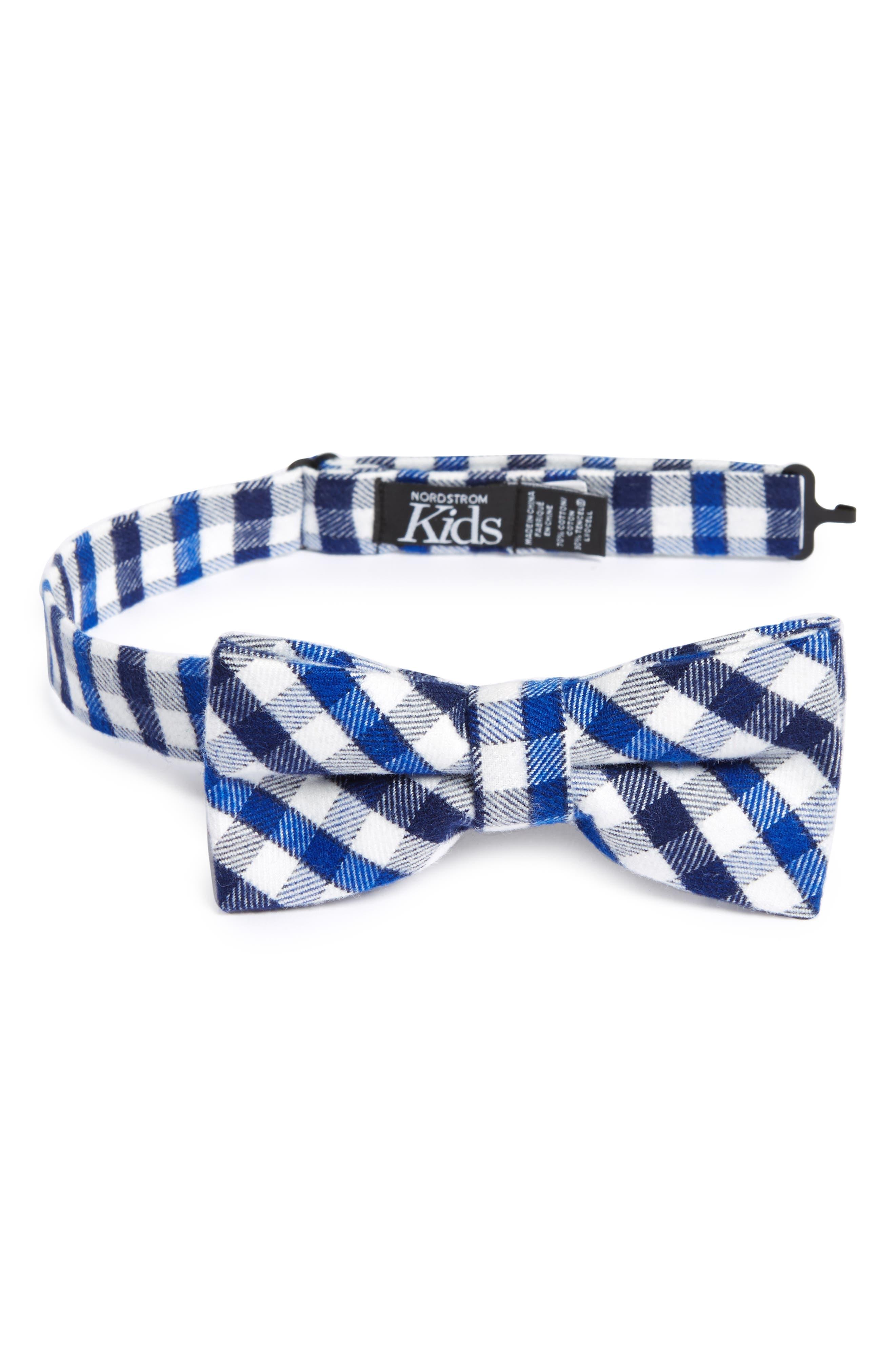 Nordstrom Plaid Bow Tie (Big Boys)
