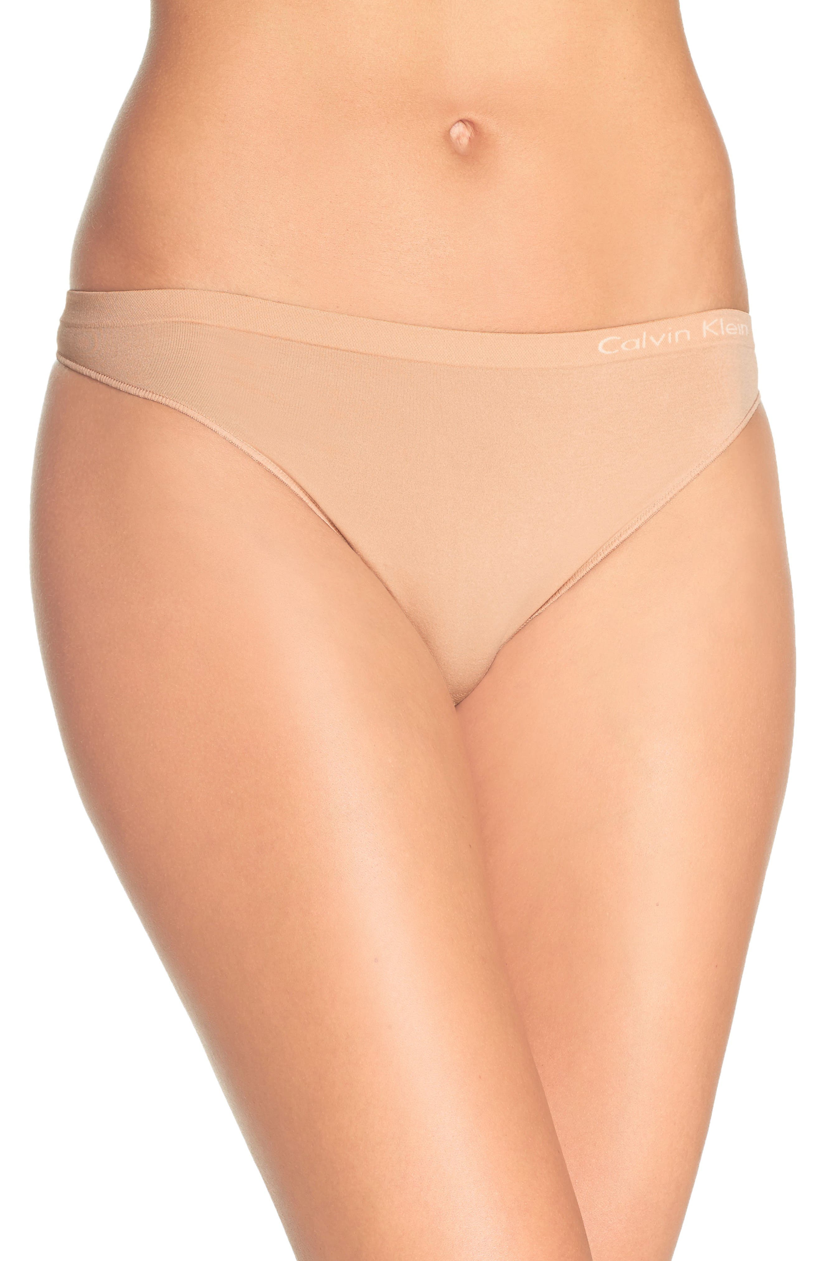 'Pure' Seamless Thong,                         Main,                         color, Bare