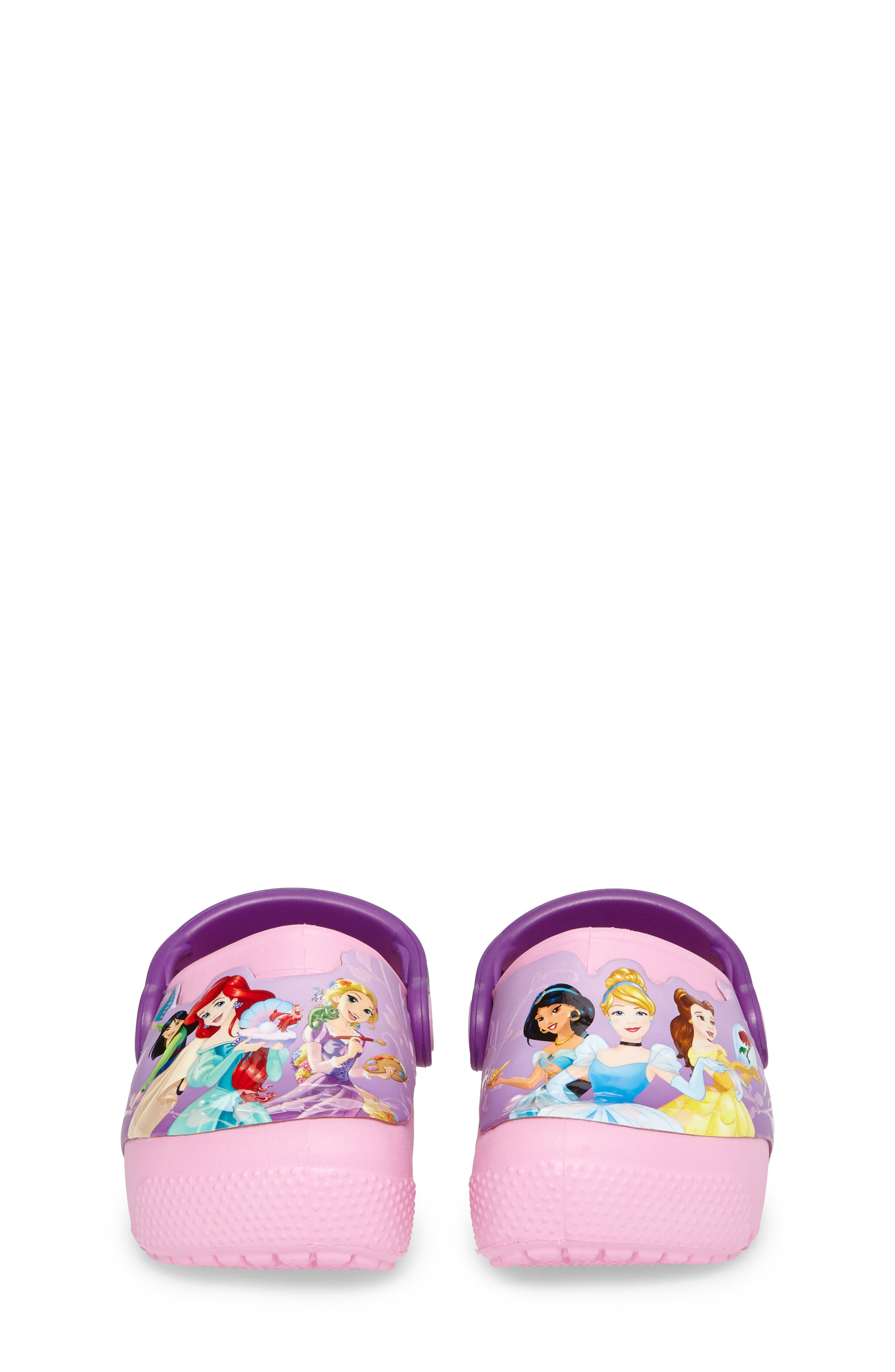 Fun ab Lights Disney<sup>®</sup> Princesses Light-Up Slip-On,                             Alternate thumbnail 4, color,                             Amethyst