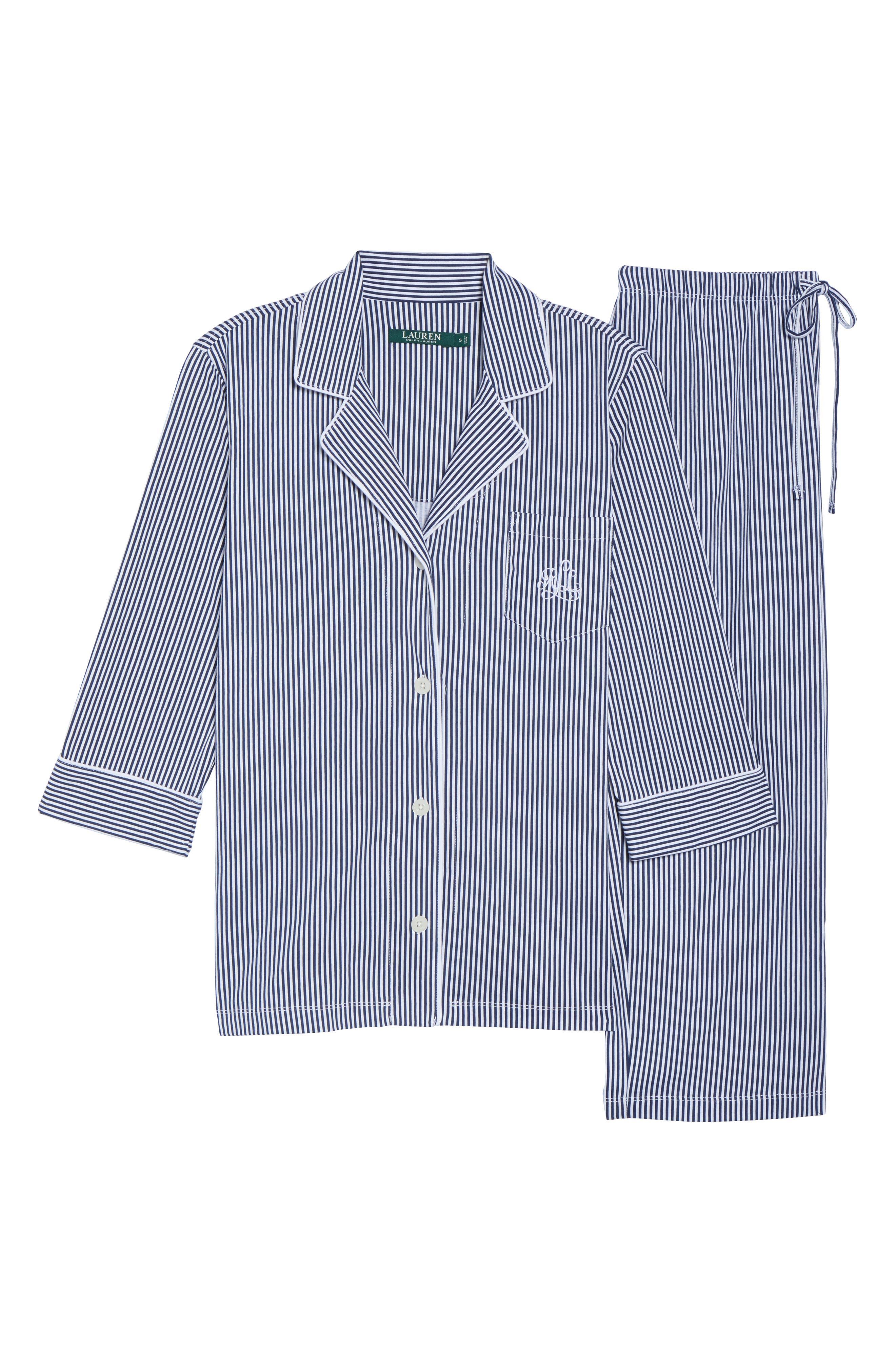 Alternate Image 6  - Lauren Ralph Lauren Knit Crop Pajamas (Online Only)