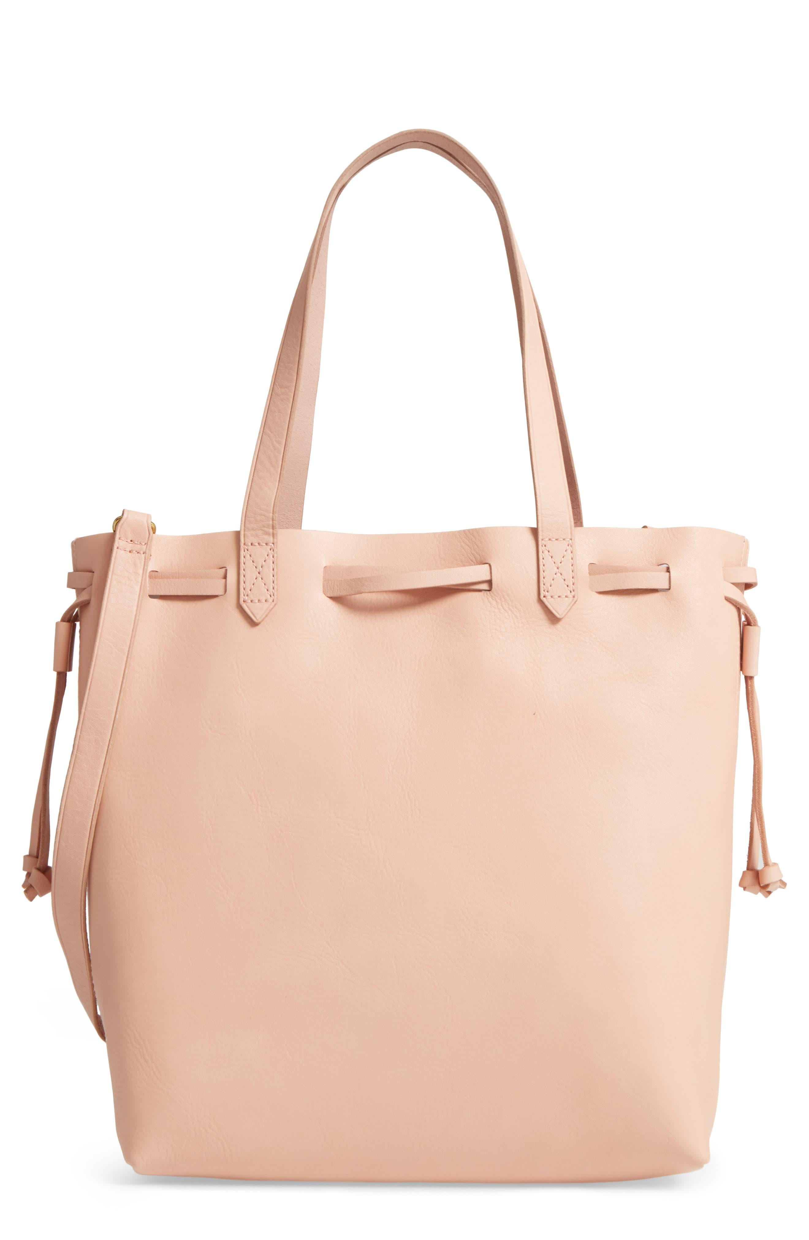 Madewell Medium Transport Leather Bucket Bag