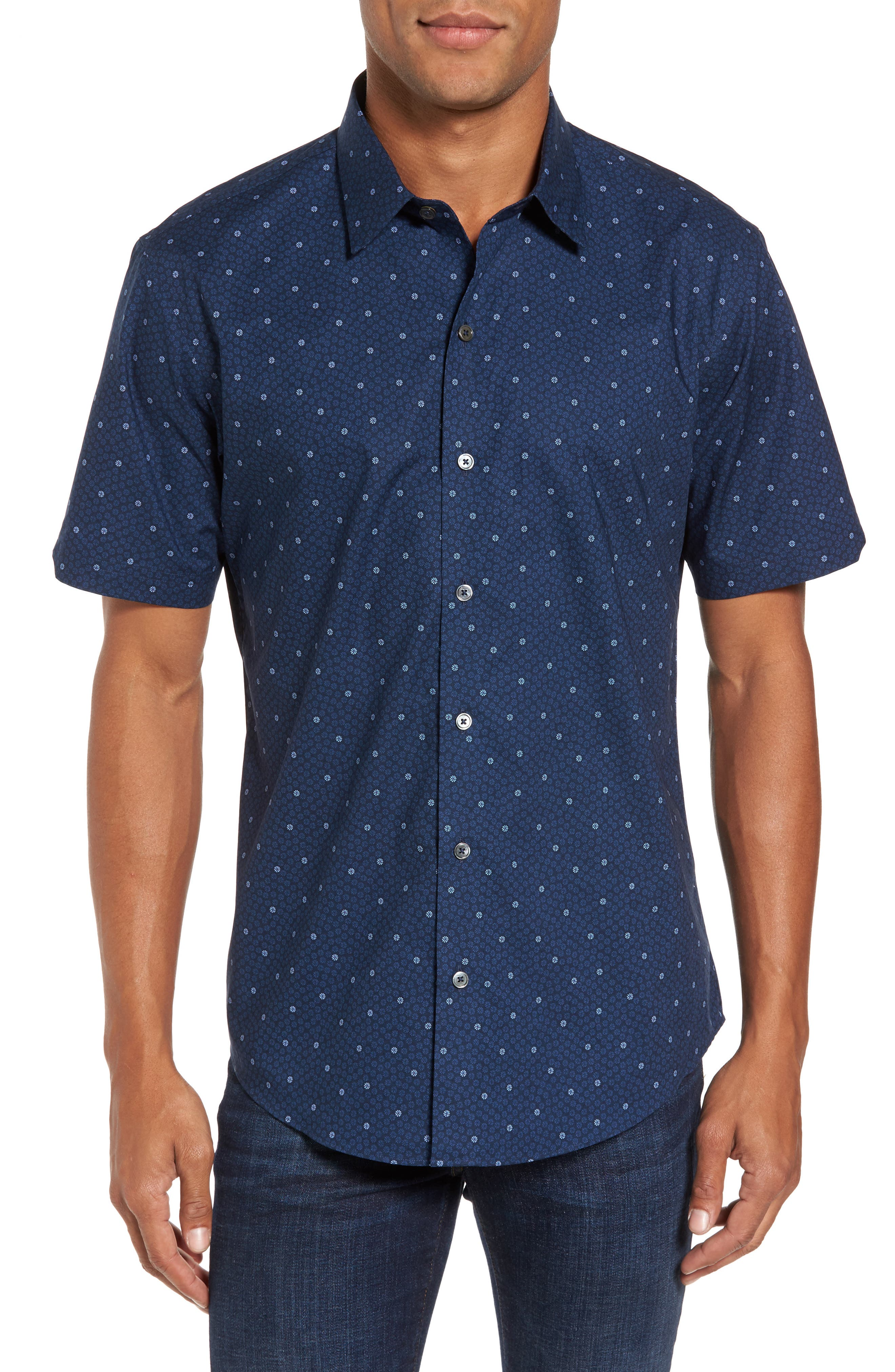 Zachary Prell Donlet Slim Fit Floral Sport Shirt