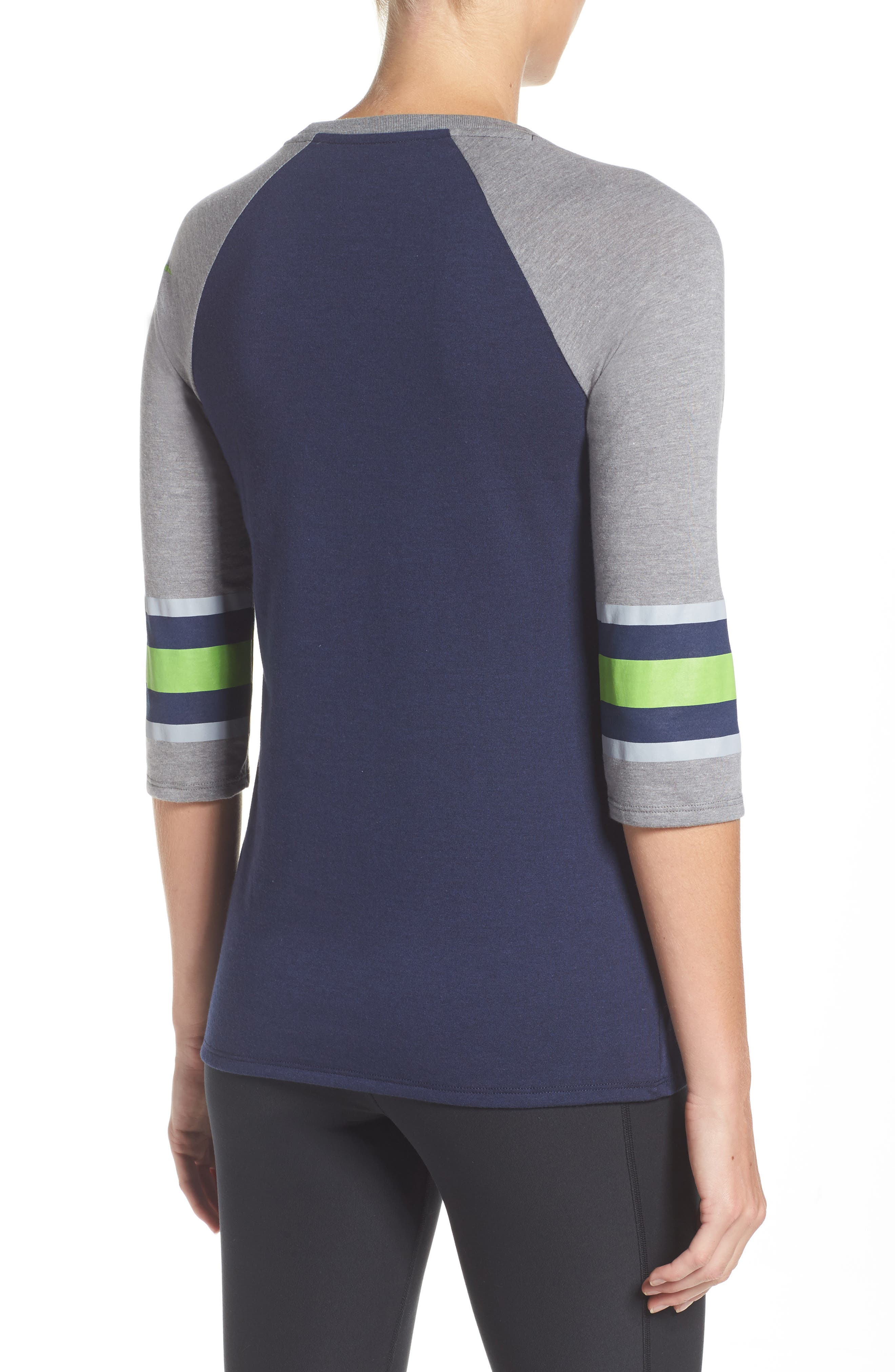Alternate Image 2  - Nike NFL Stripe Varsity Tee