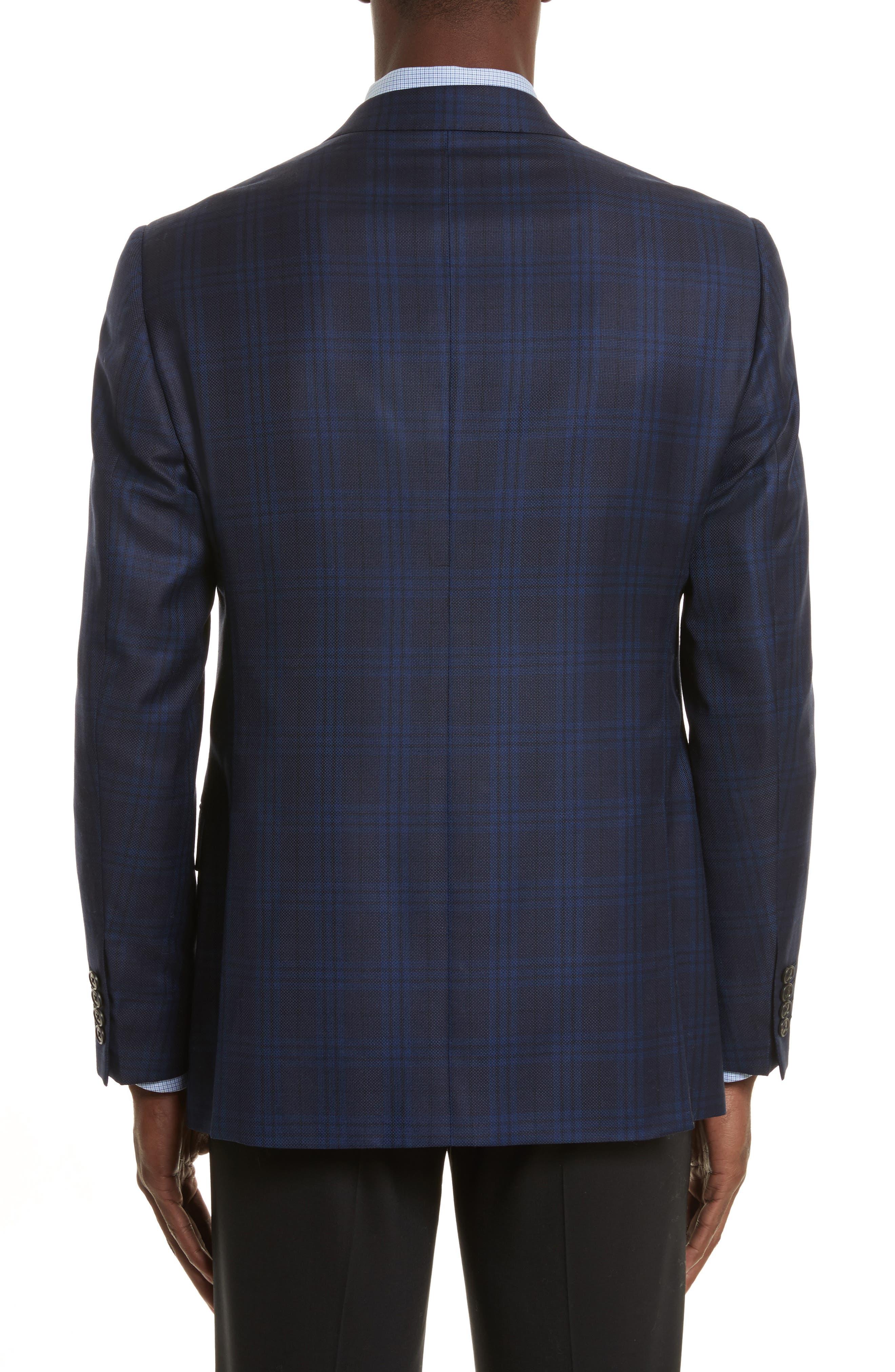 G-Line Trim Fit Houndstooth Wool Sport Coat,                             Alternate thumbnail 2, color,                             Navy