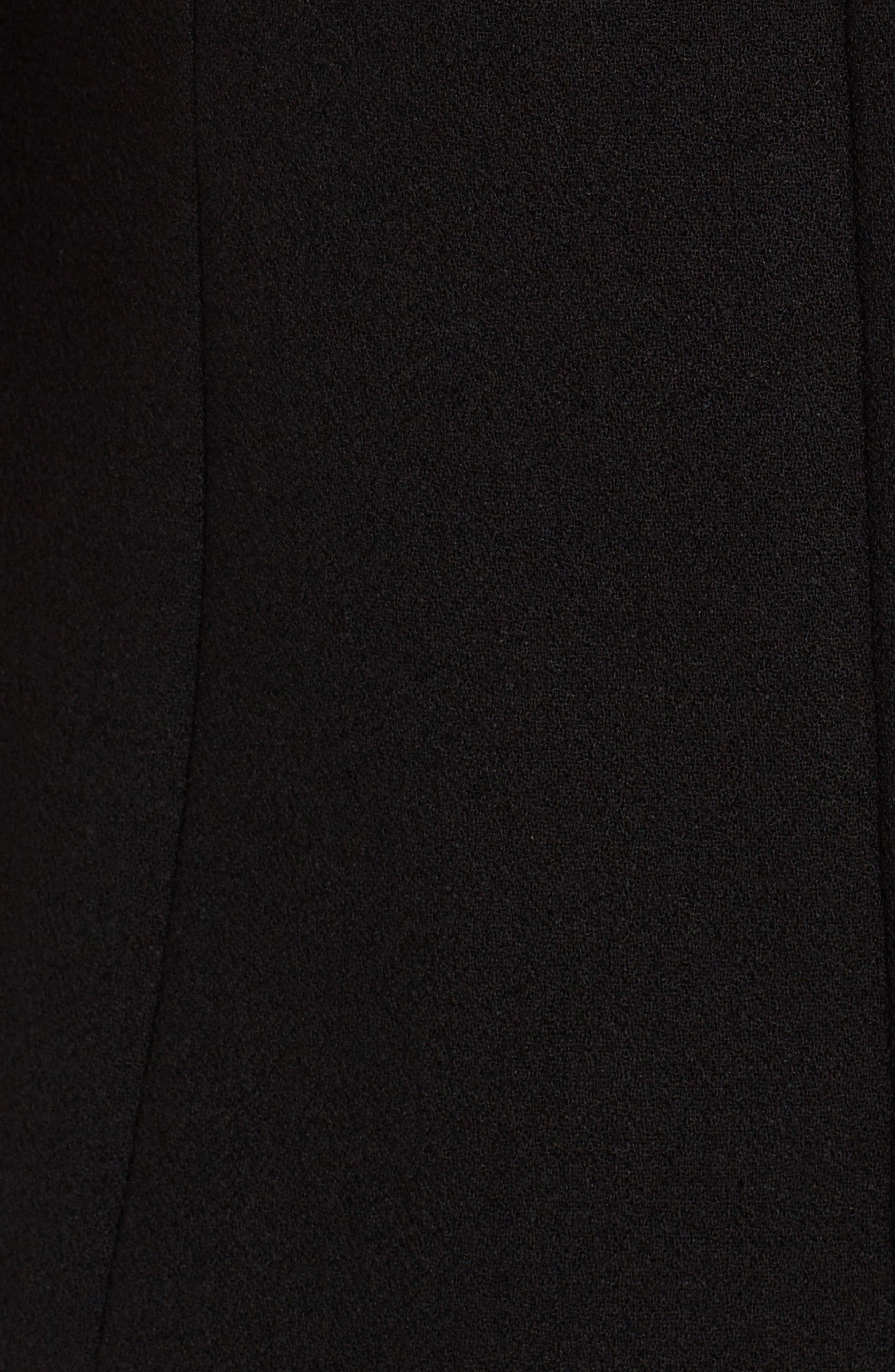 Sequin Logo Crepe A-Line Dress,                             Alternate thumbnail 5, color,                             Black