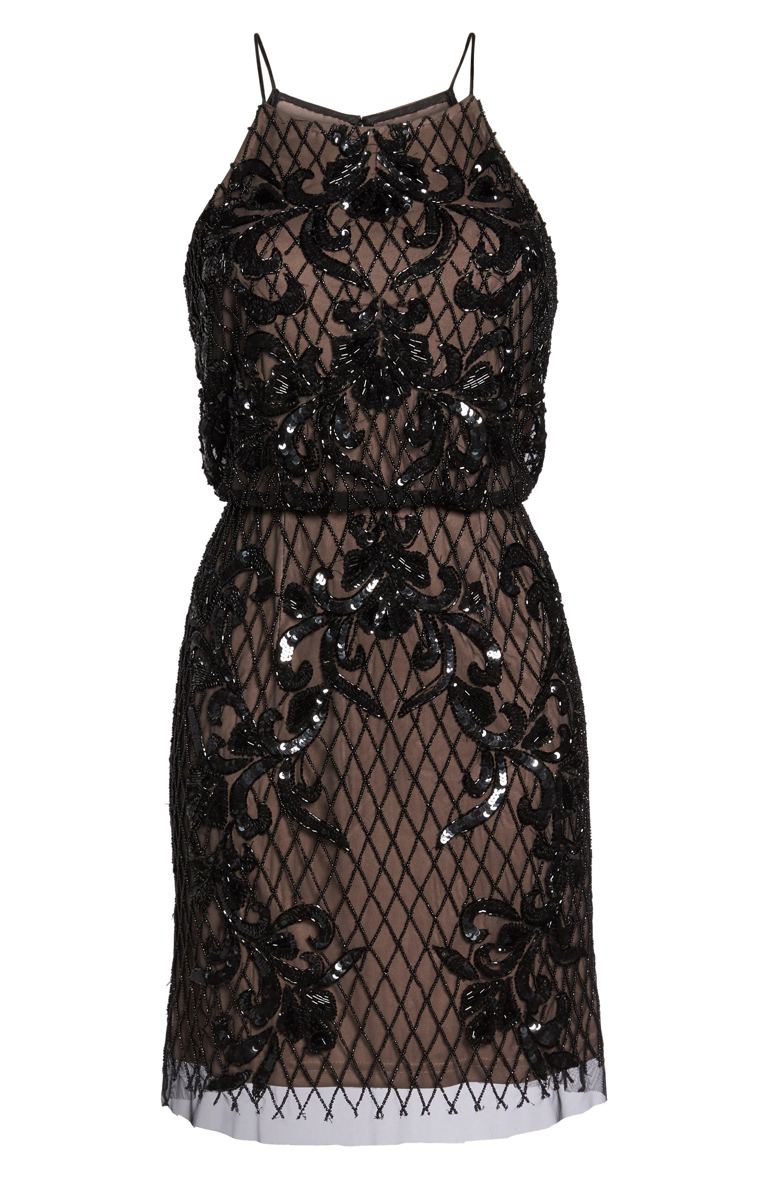 Alternate Image 6  - Adrianna Papell Embellished Blouson Minidress