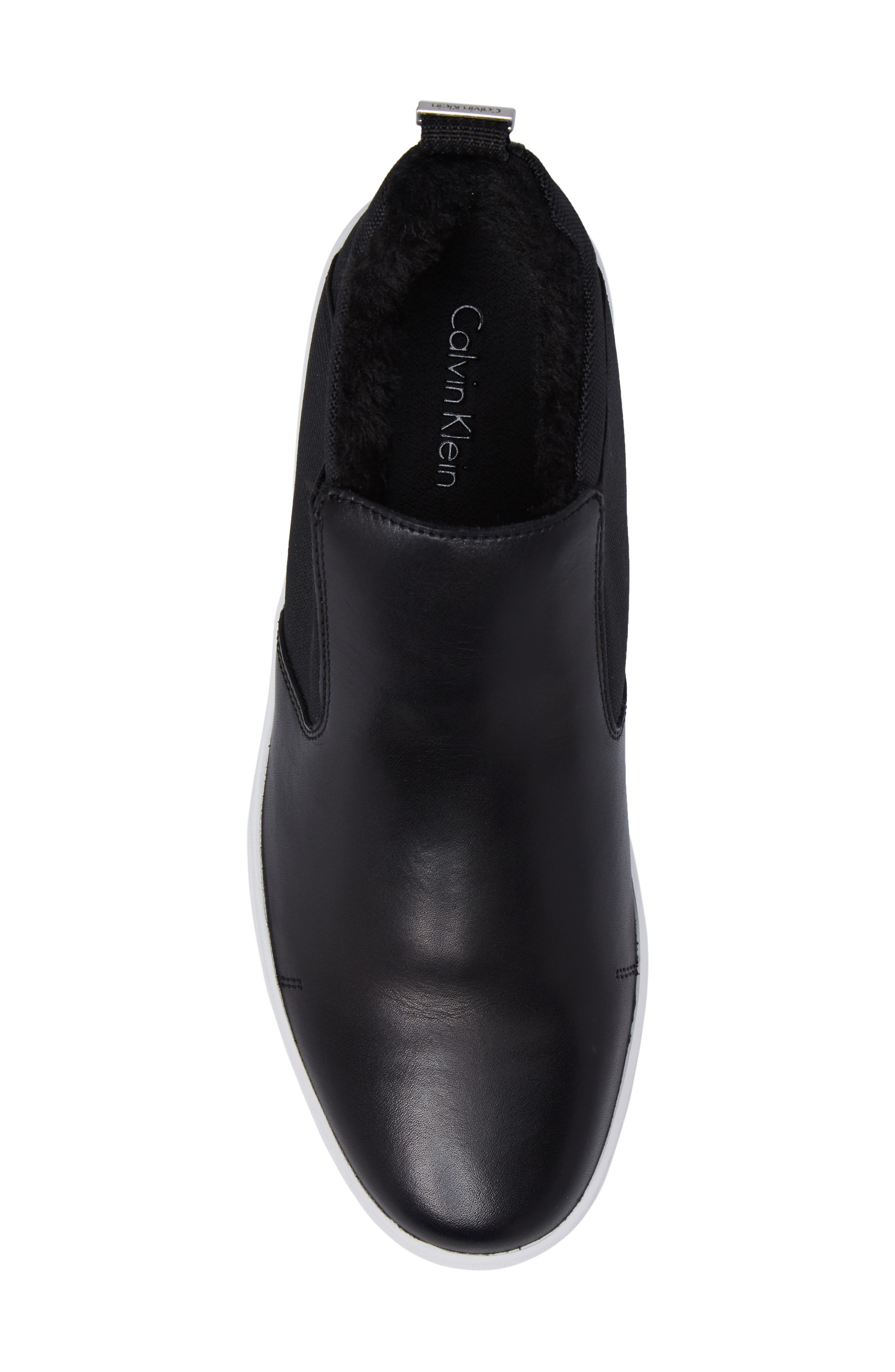 Noble Slip-On,                             Alternate thumbnail 5, color,                             Black Leather