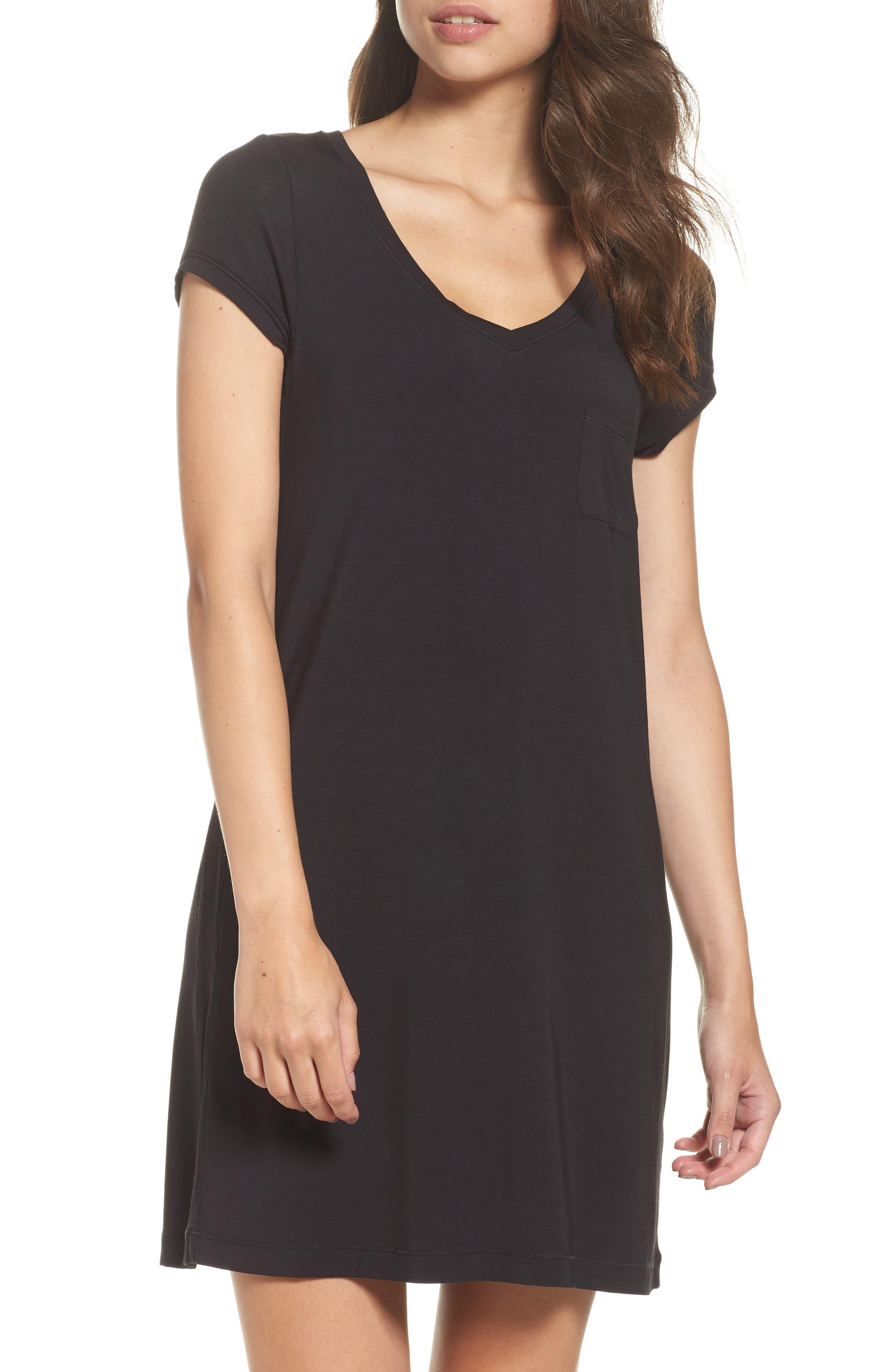 Alternate Image 1 Selected - DKNY 'City Essentials' V-Neck Sleep Shirt
