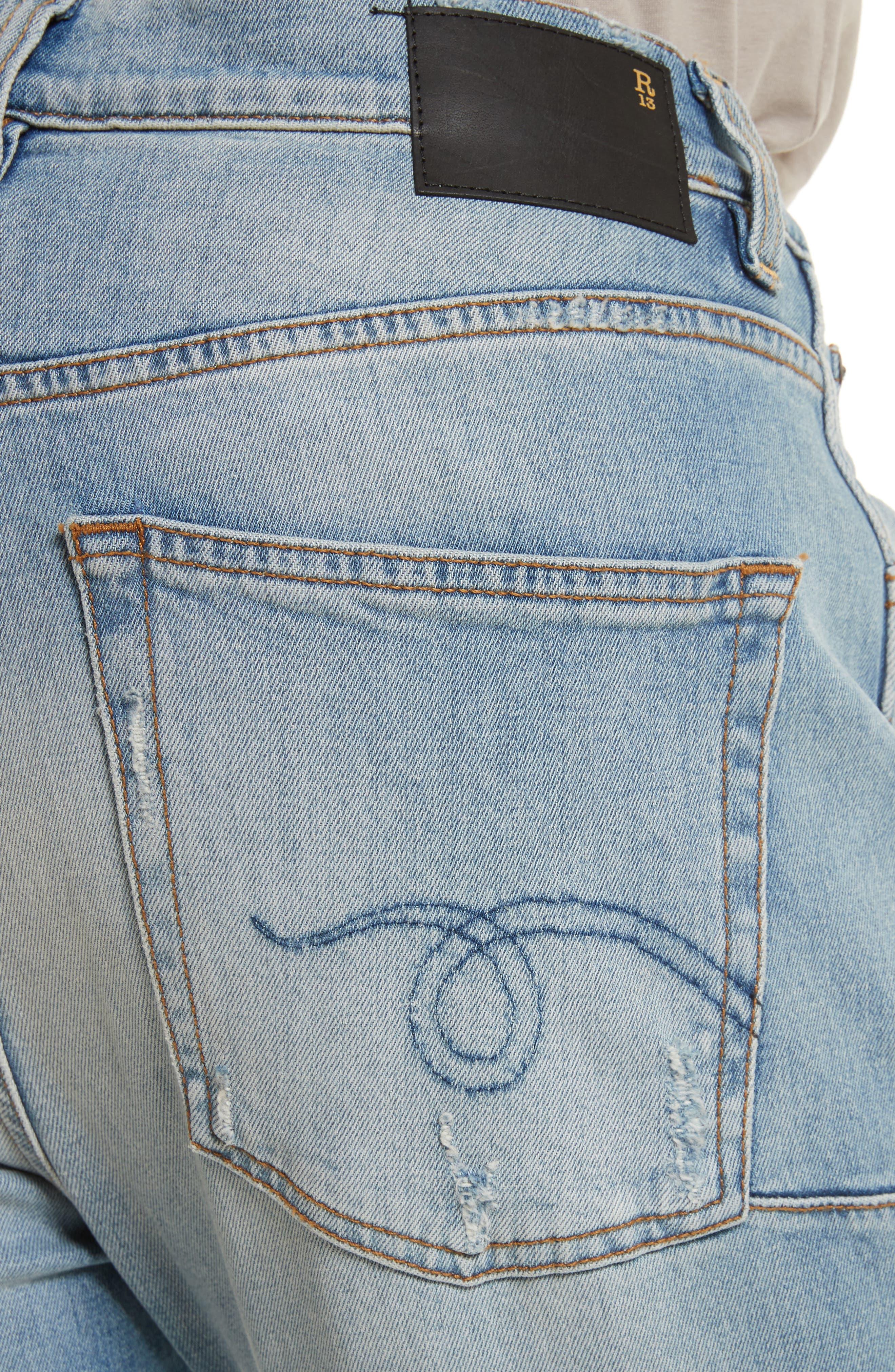 Alternate Image 4  - R13 Deacon Skate Skinny Fit Jeans