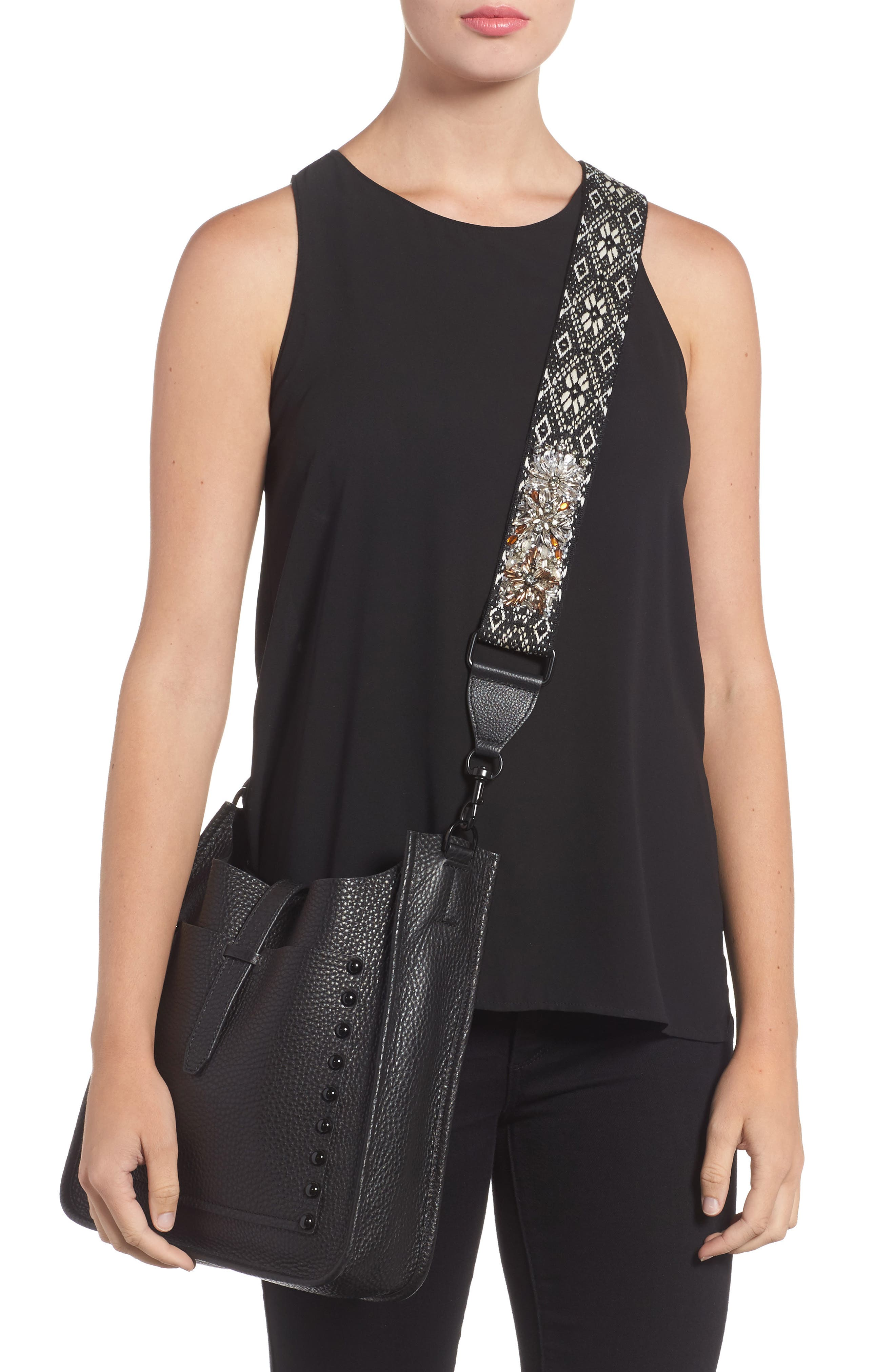 Alternate Image 2  - Rebecca Minkoff Jeweled Jacquard Guitar Strap
