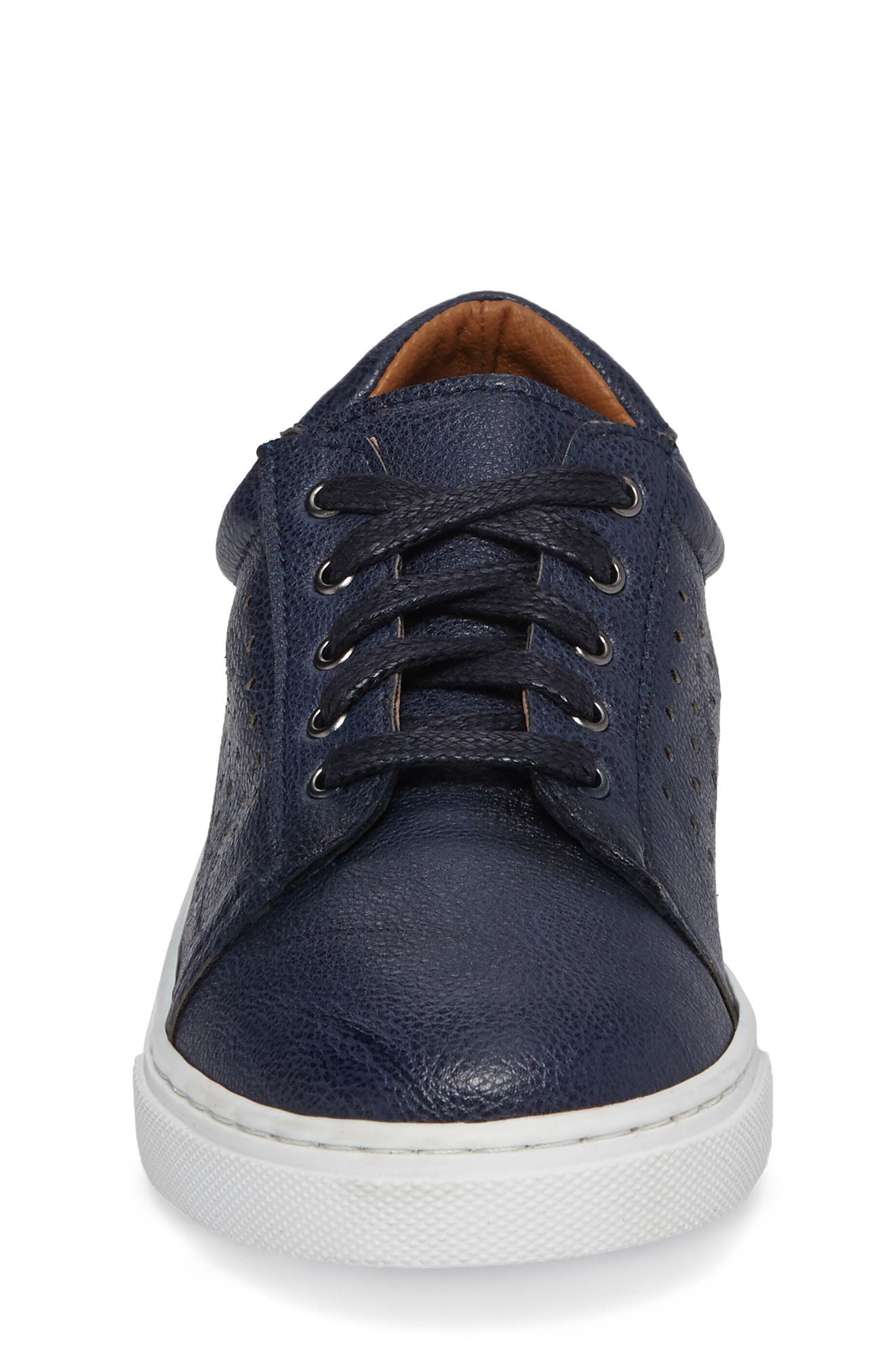 Grafte Perforated Sneaker,                             Alternate thumbnail 4, color,                             Navy