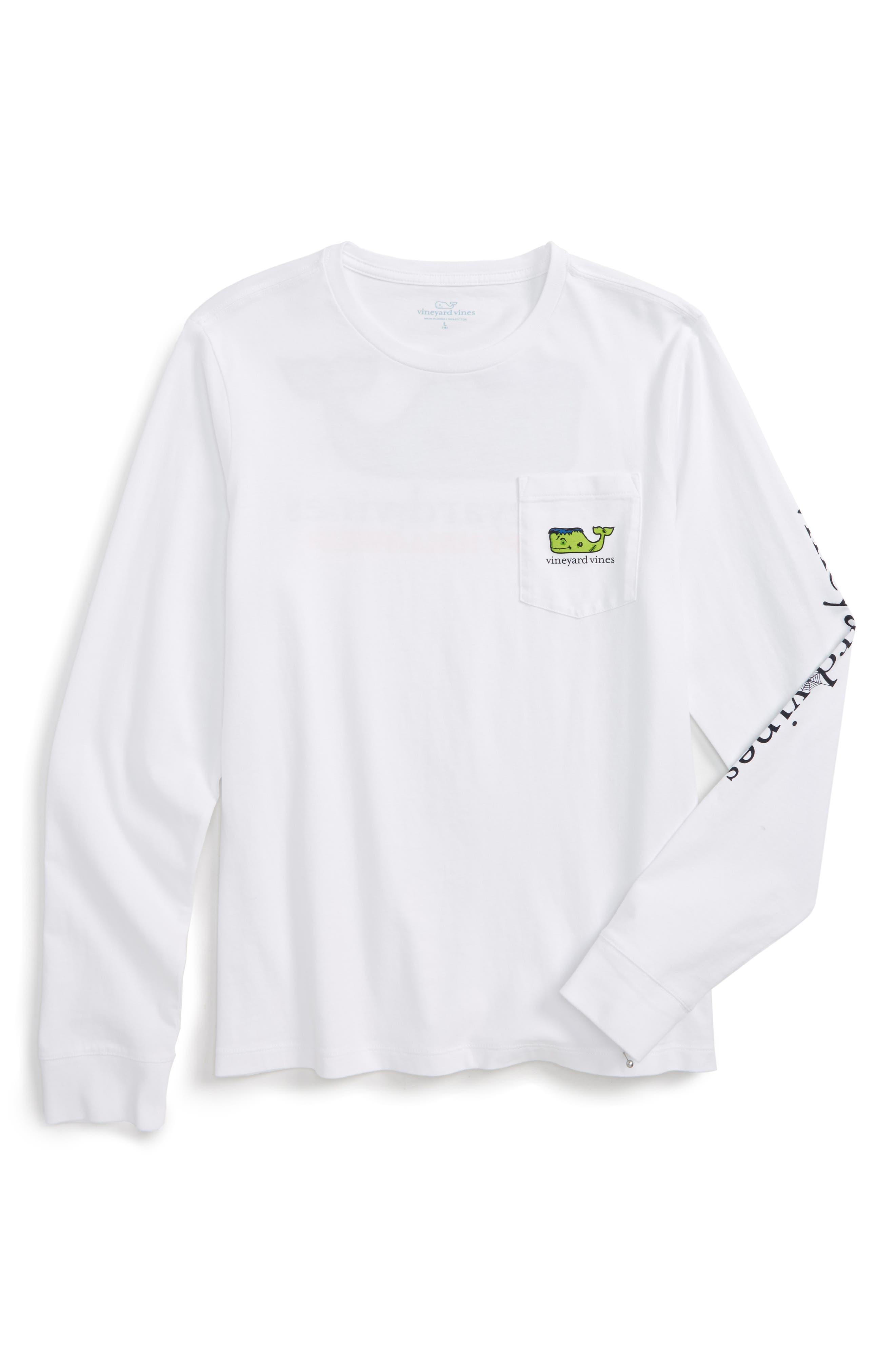 Vineyard Vines Frankenstein Whale Pocket T-Shirt (Big Boys)