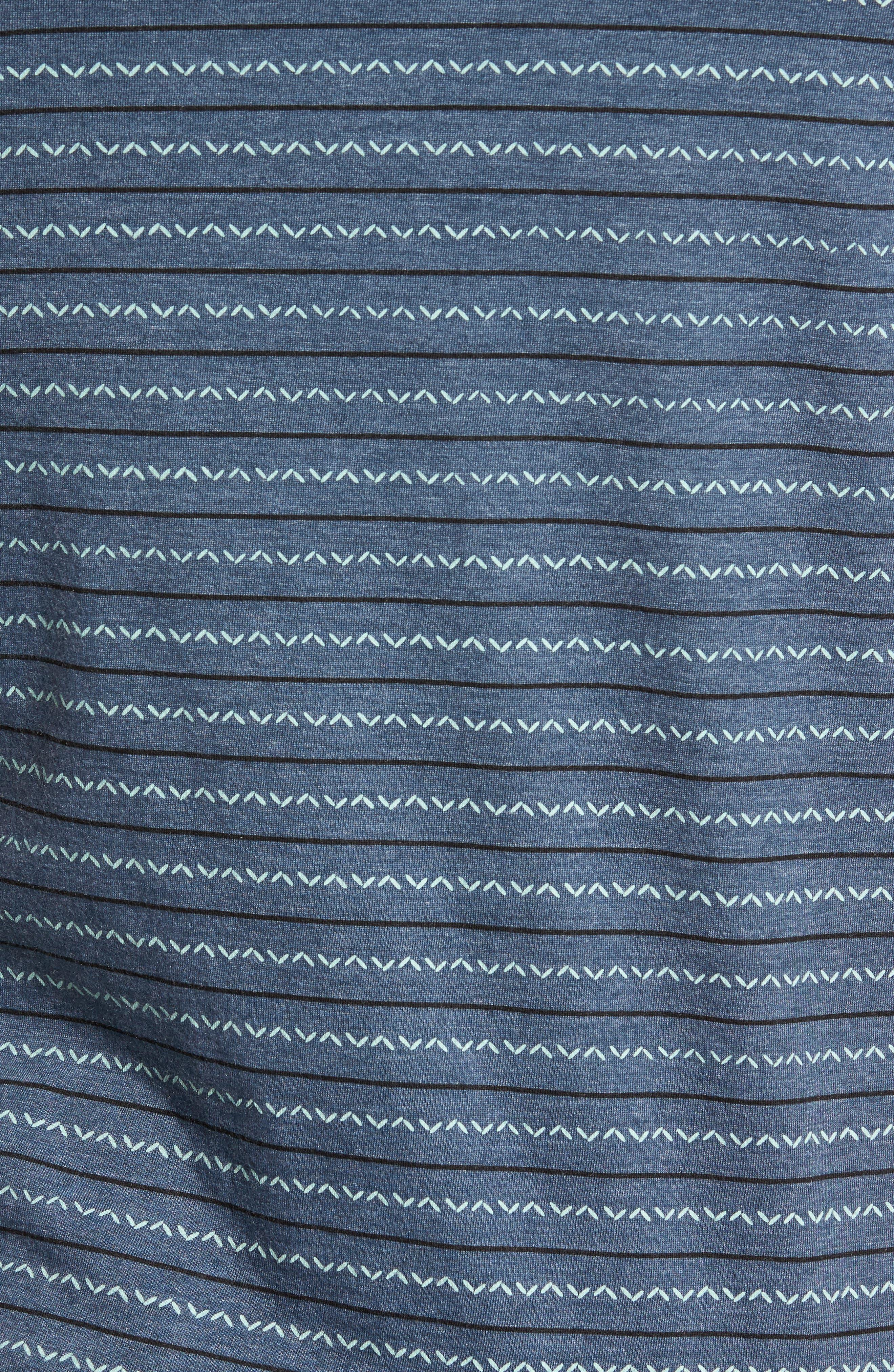 Chevron Stripe T-Shirt,                             Alternate thumbnail 5, color,                             Dark Denim