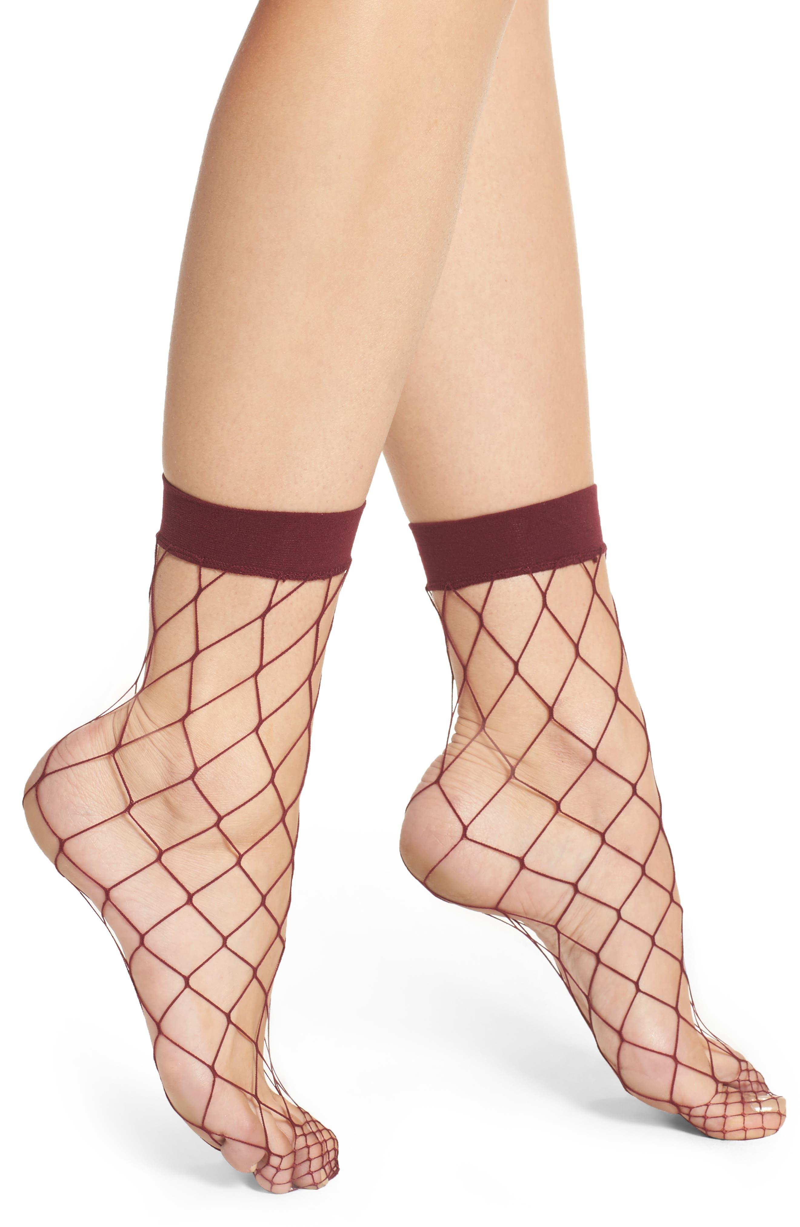 Nordstrom Fishnet Ankle Socks