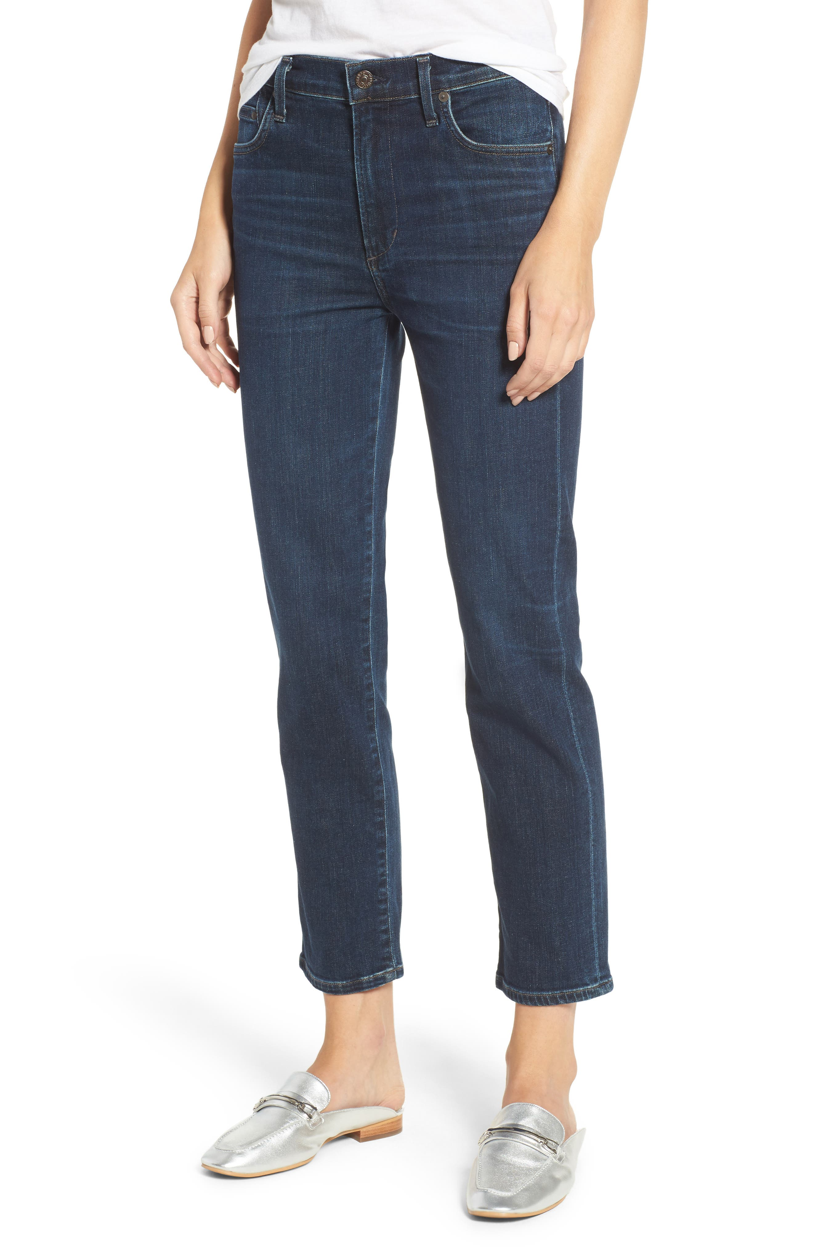 Cara Ankle Cigarette Jeans,                         Main,                         color, Marisol