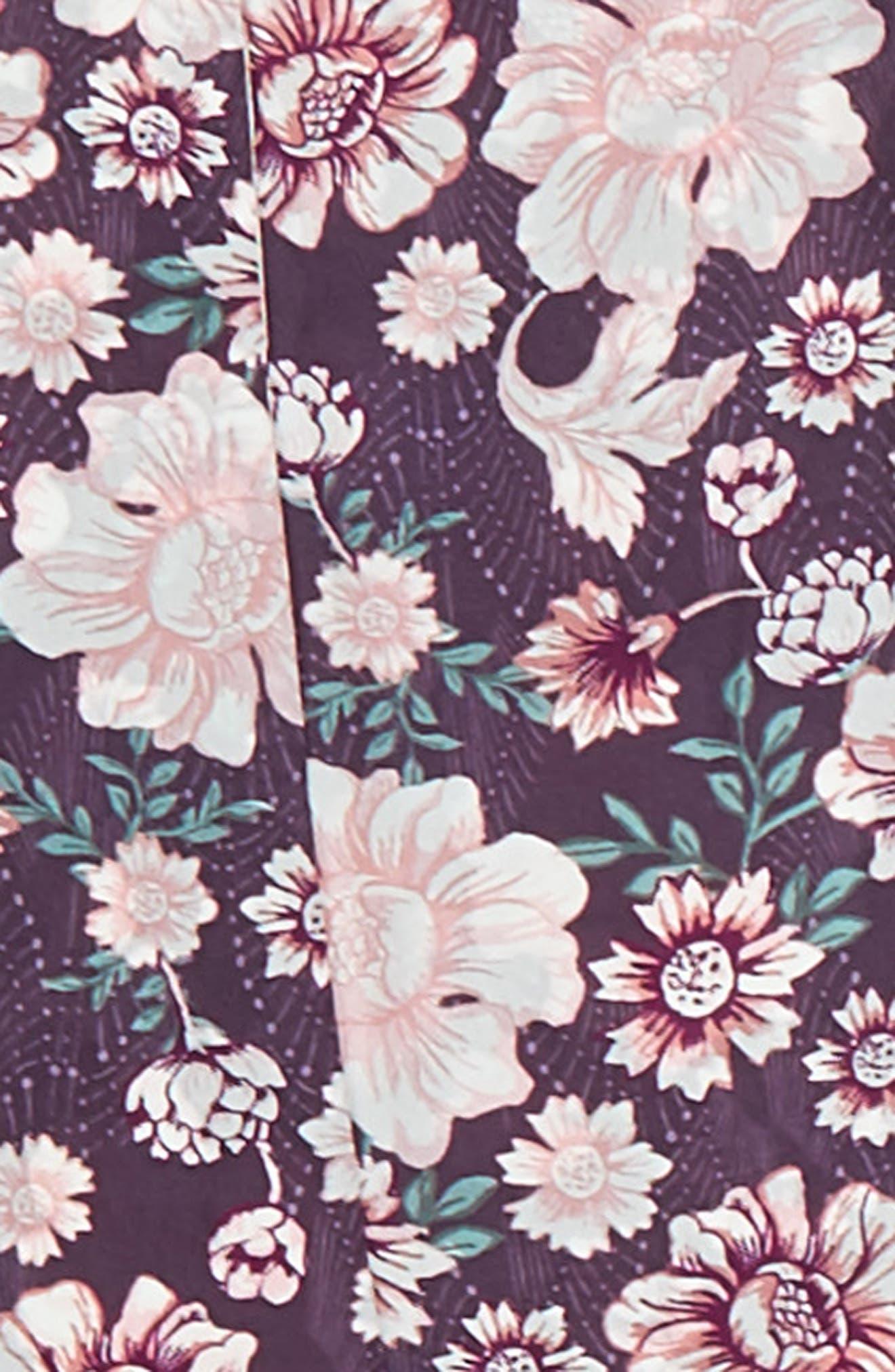 Alternate Image 4  - Treasure & Bond Mirrored Floral Silk Skinny Scarf