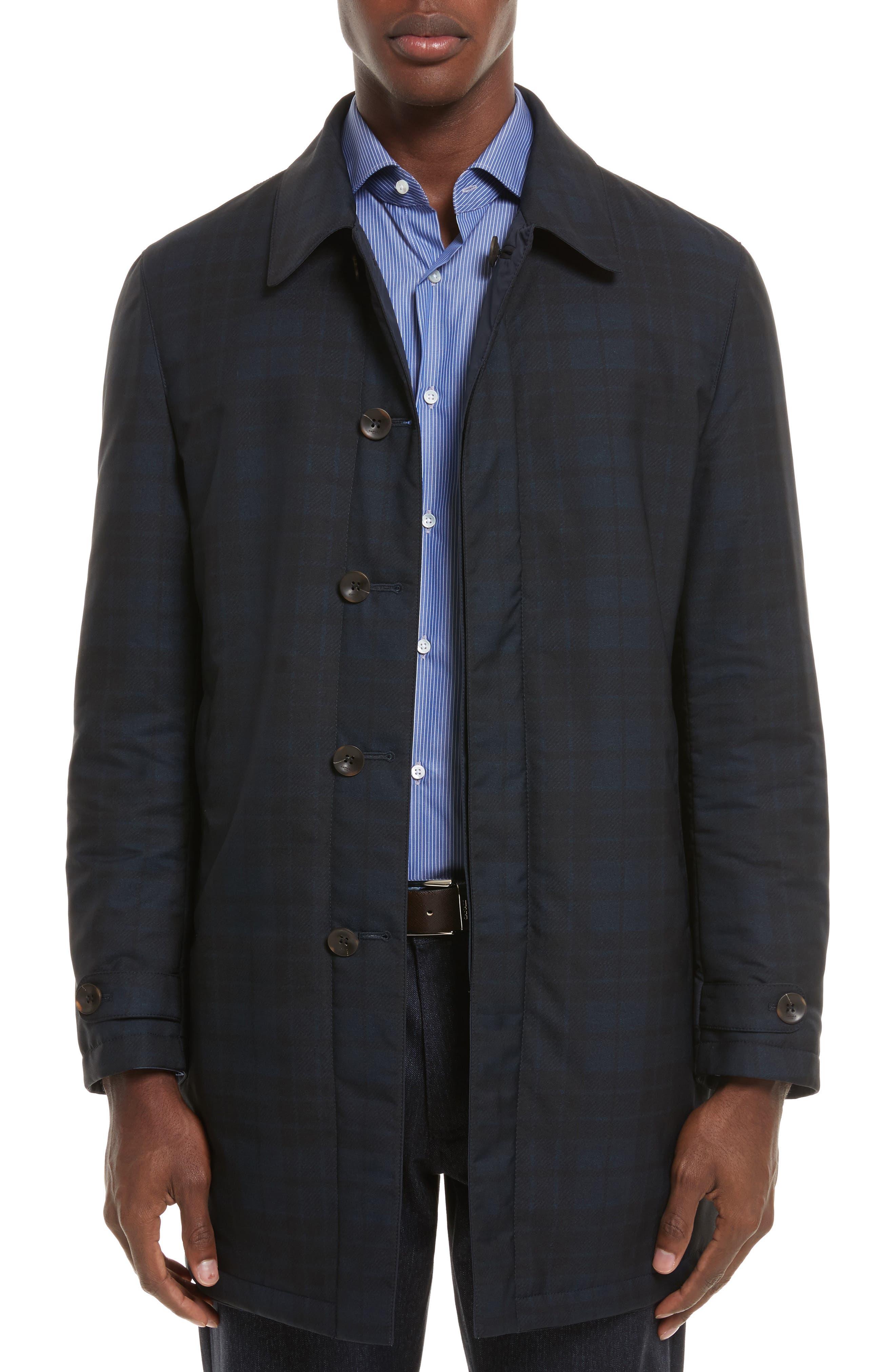 Reversible Raincoat,                             Main thumbnail 1, color,                             Navy