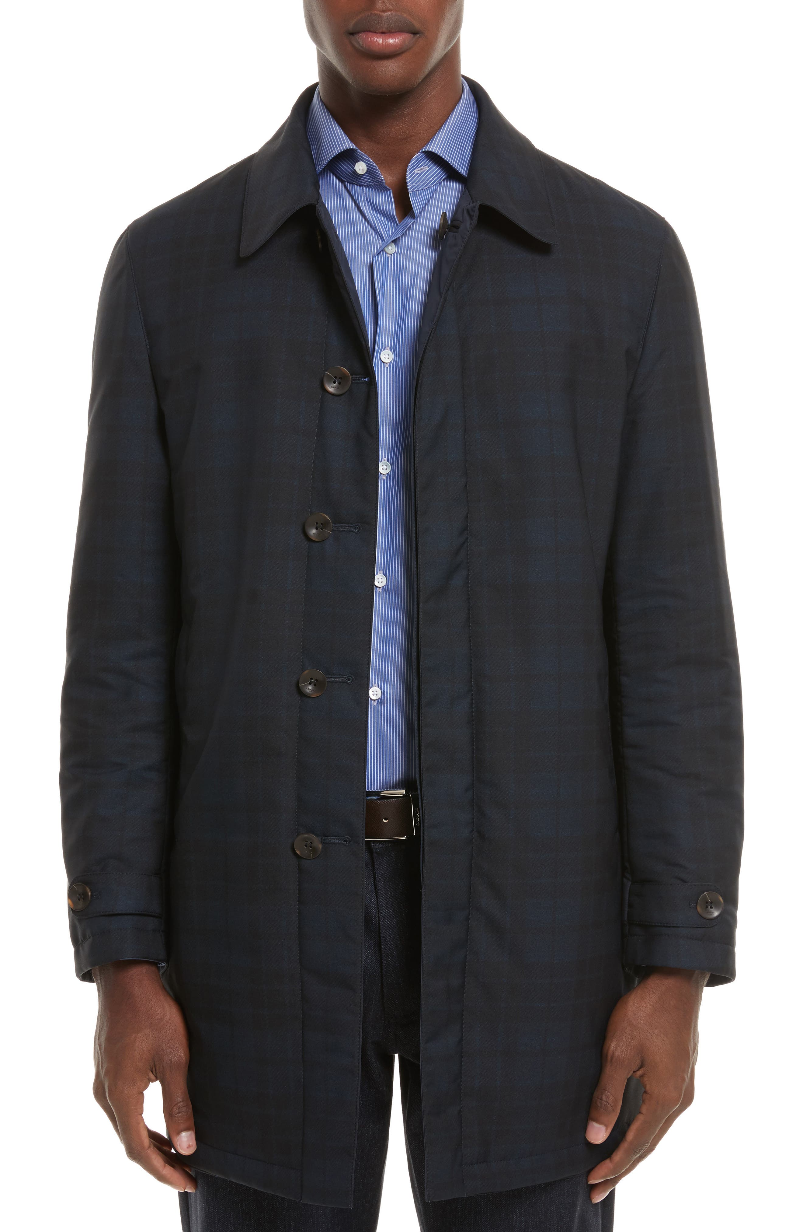 Reversible Raincoat,                         Main,                         color, Navy