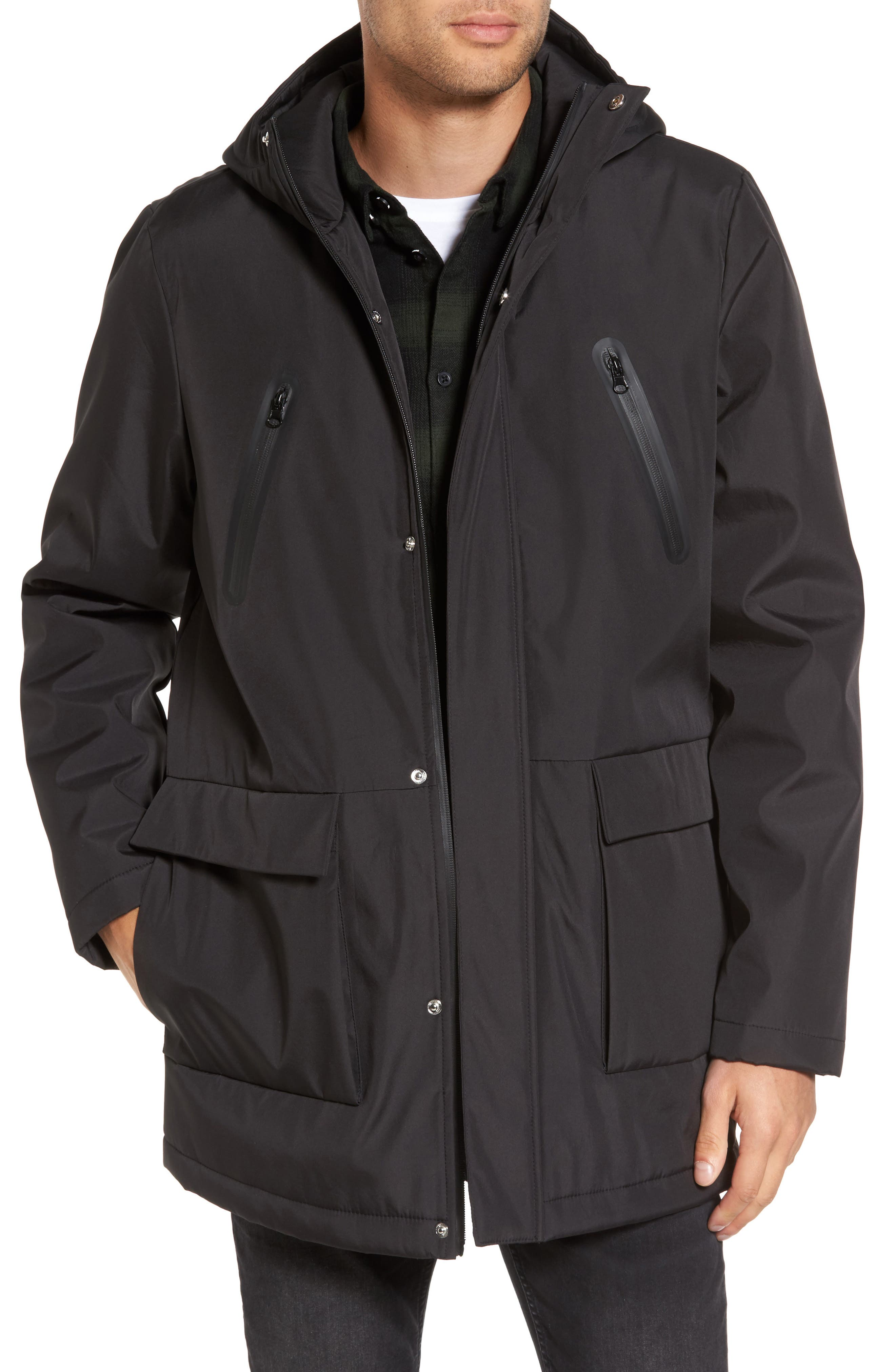 Cedric Weatherproof Jacket,                         Main,                         color, Black