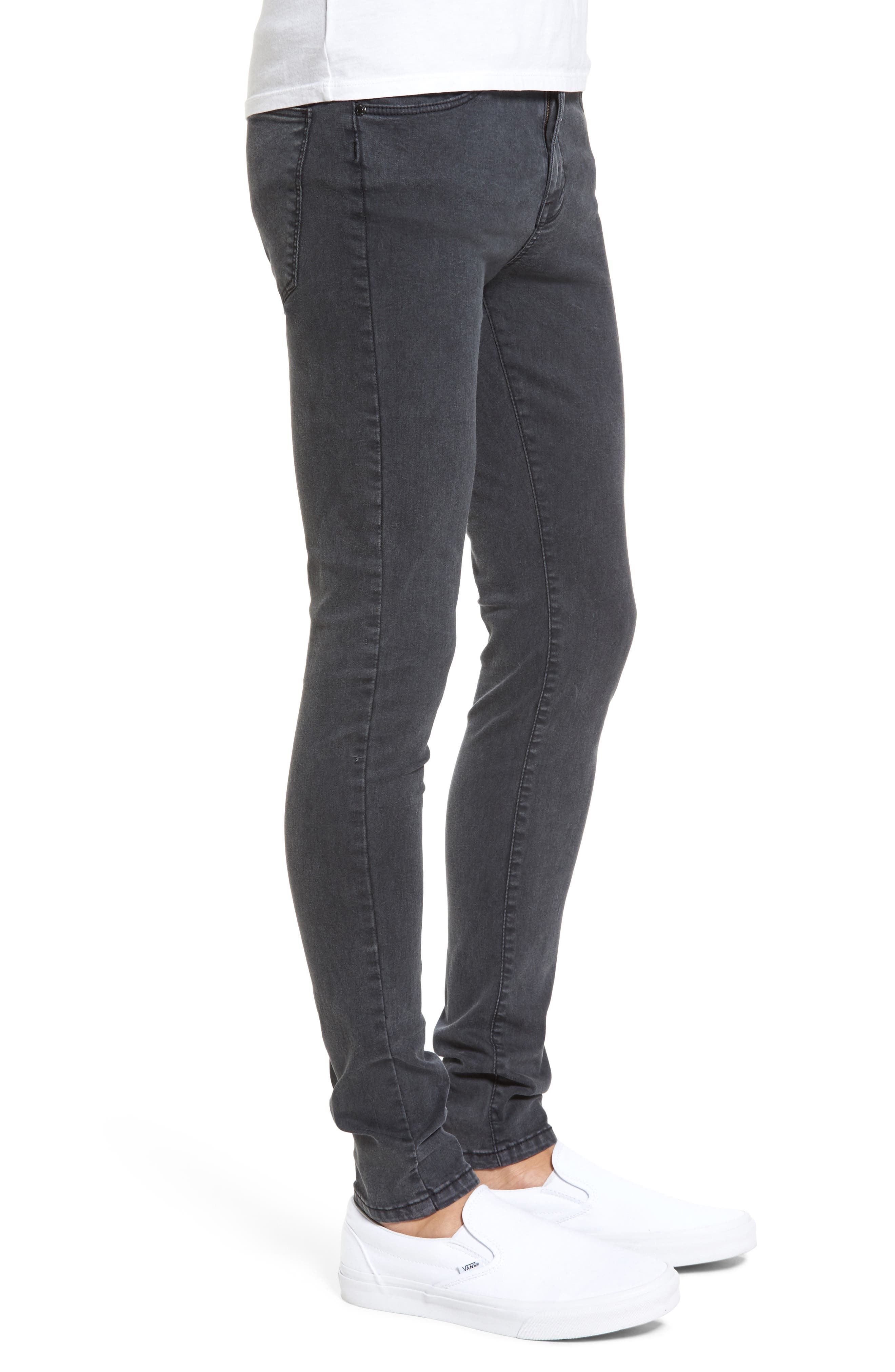 Leroy Slim Fit Jeans,                             Alternate thumbnail 3, color,                             Grey Lush