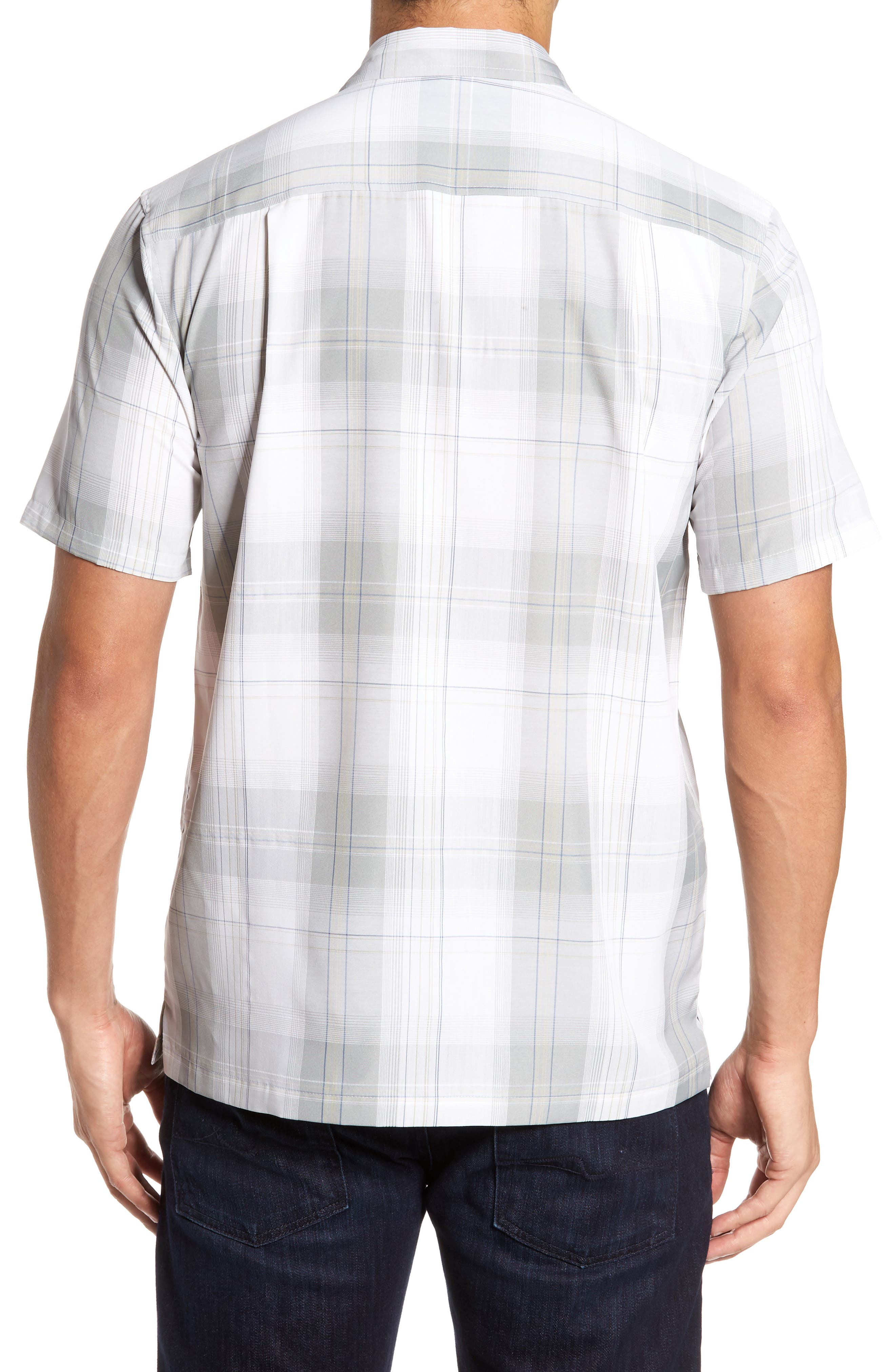 Outerbanks Plaid Sport Shirt,                             Alternate thumbnail 2, color,                             Light Grey