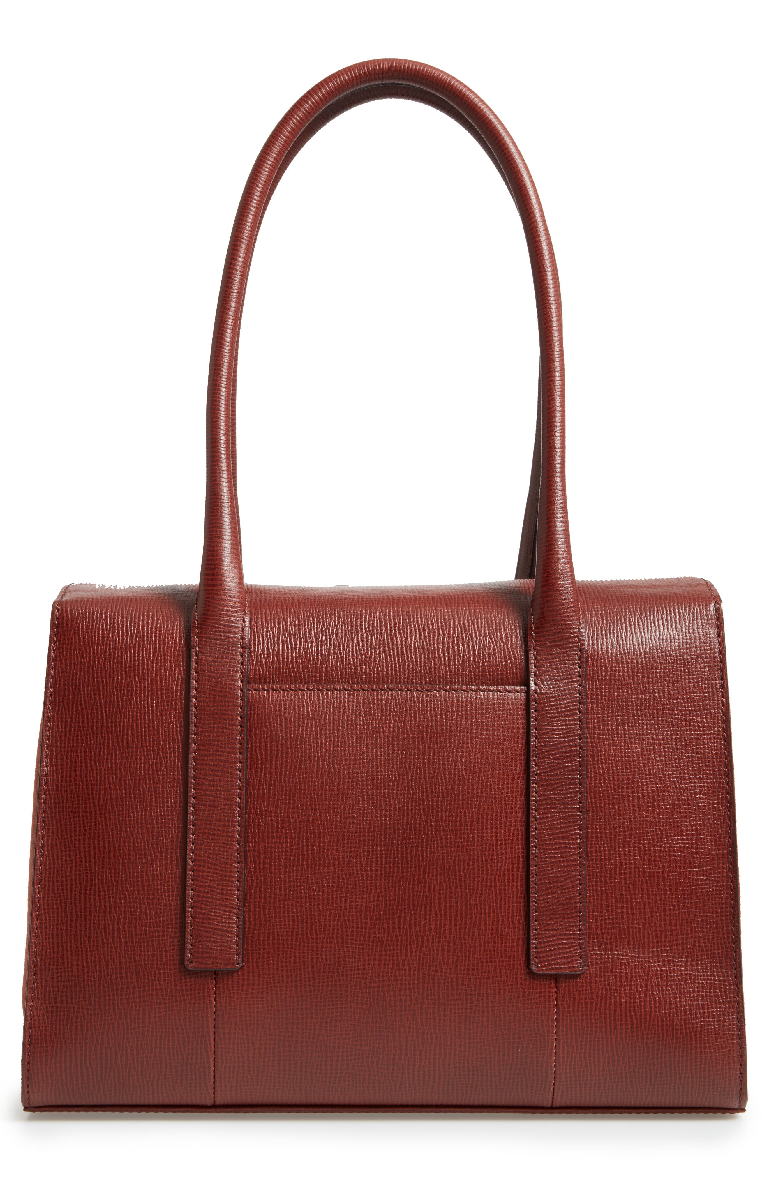 Alternate Image 3  - Lodis Business Chic Paula RFID-Protected Coated Leather & Suede Brief Shoulder Bag