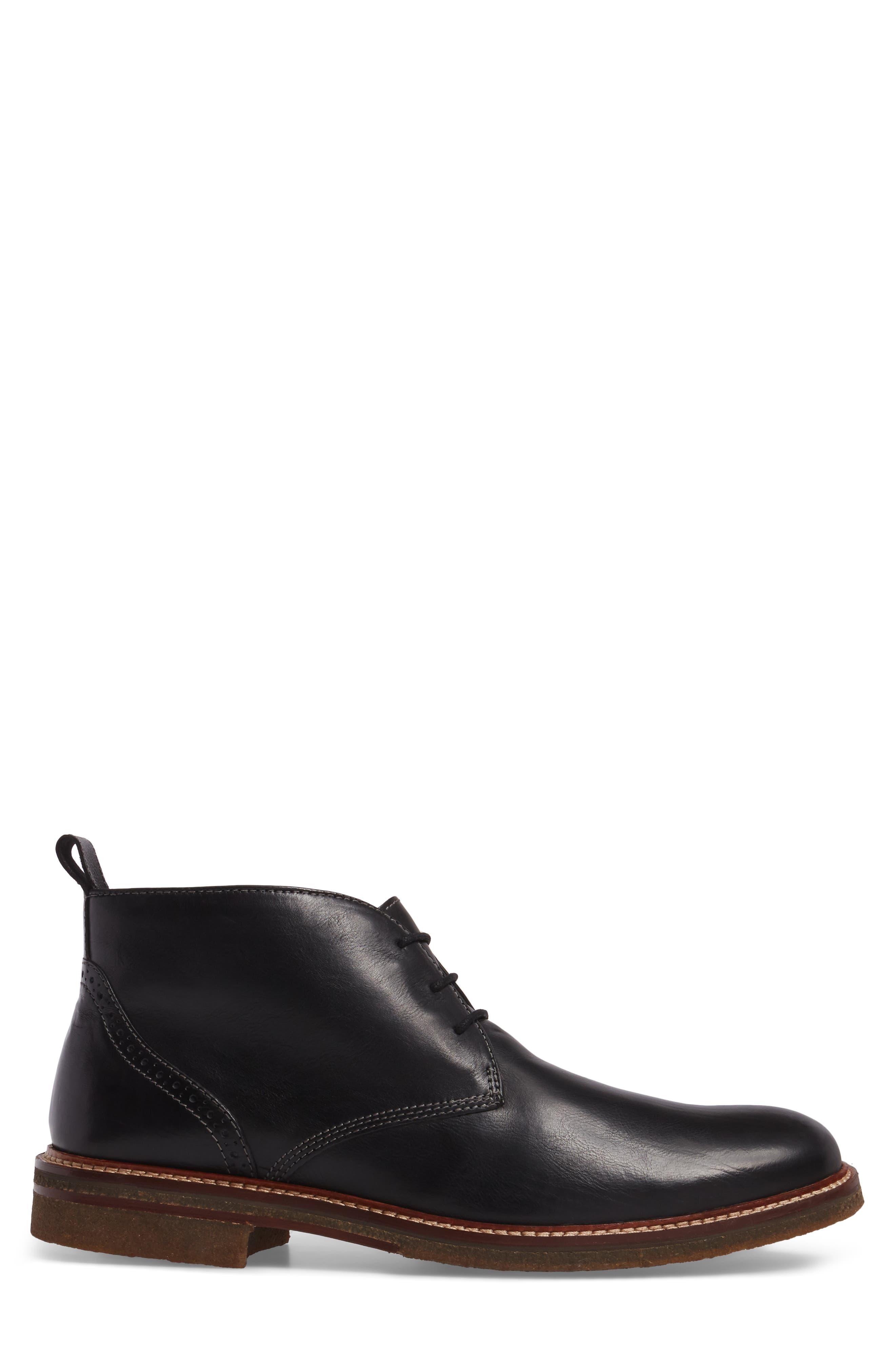 Forrester Chukka Boot,                             Alternate thumbnail 3, color,                             Black Leather