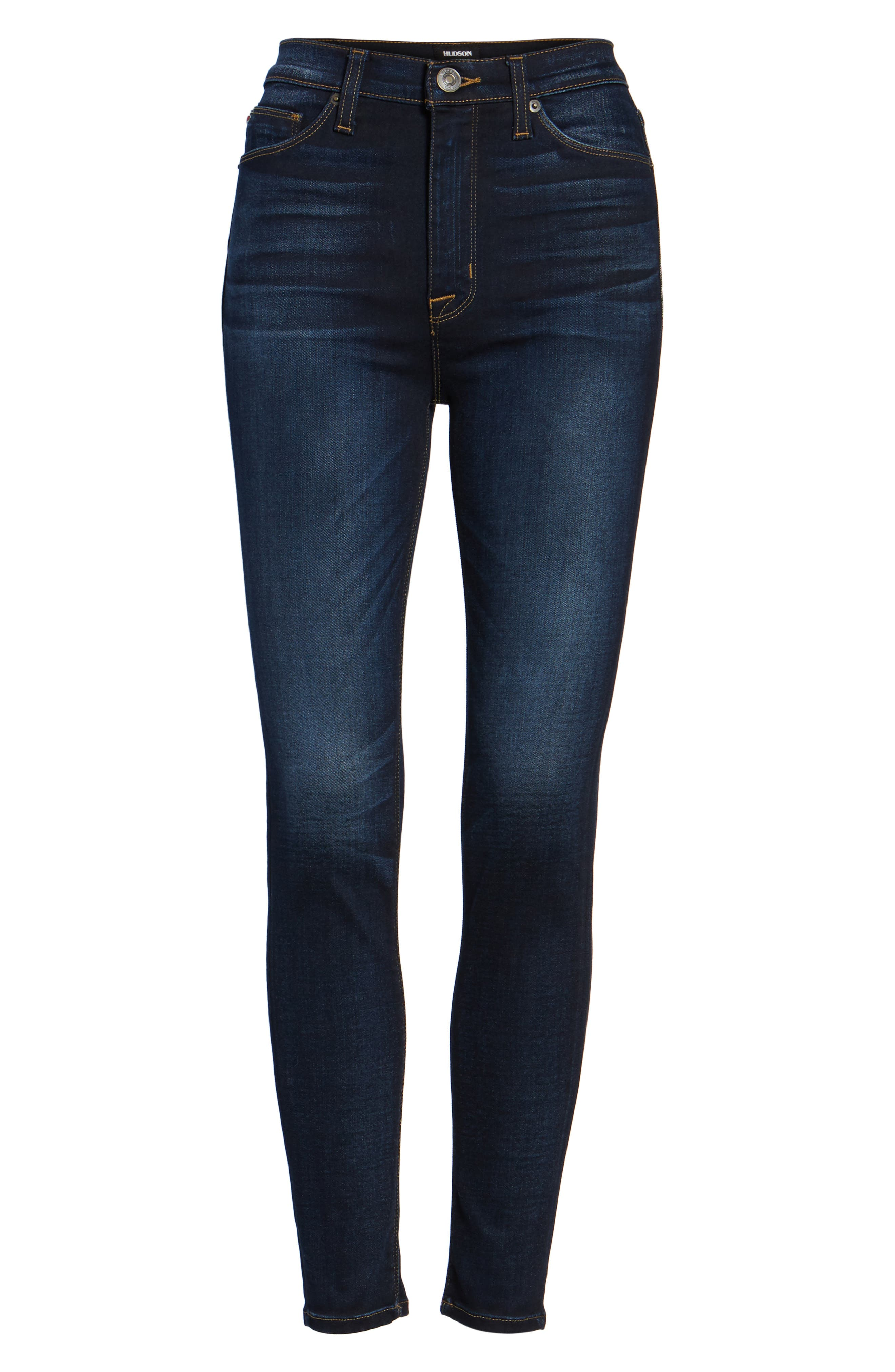 Barbara High Waist Super Skinny Jeans,                             Alternate thumbnail 6, color,                             Calvary