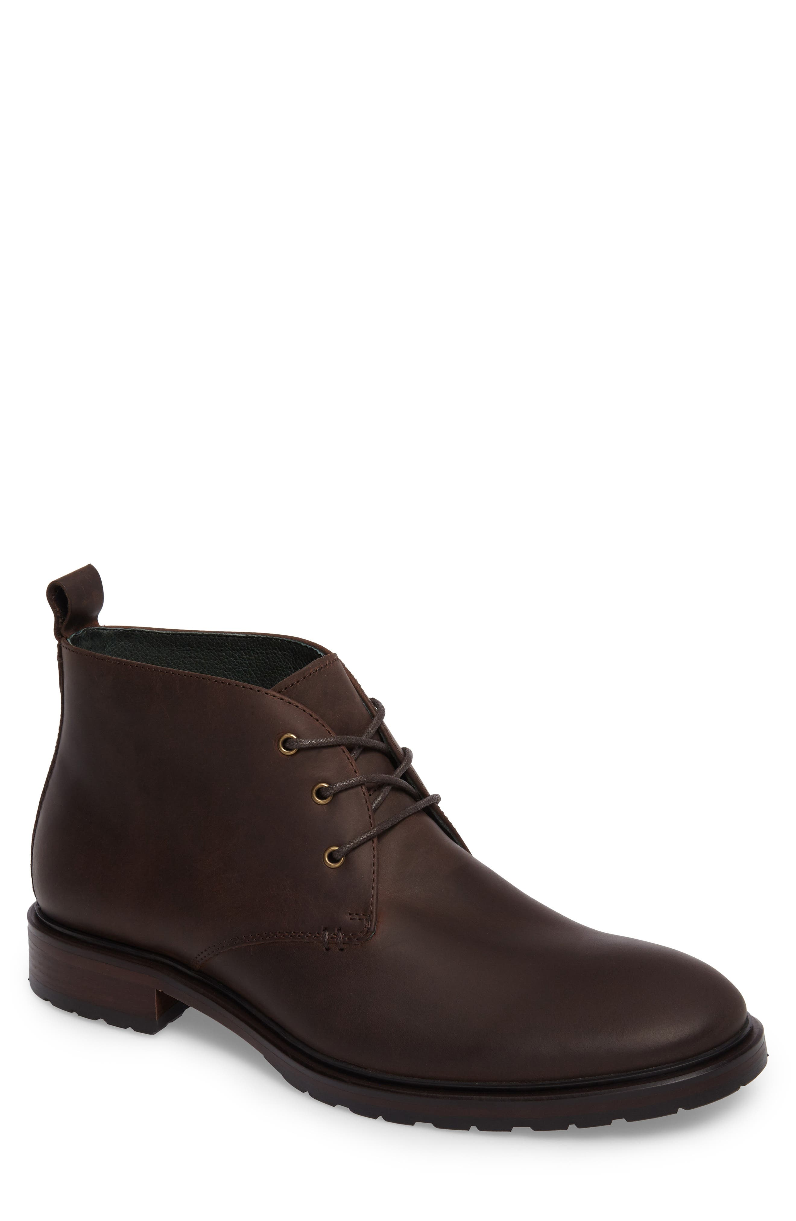 Myles Chukka Boot,                         Main,                         color, Dark Brown Leather