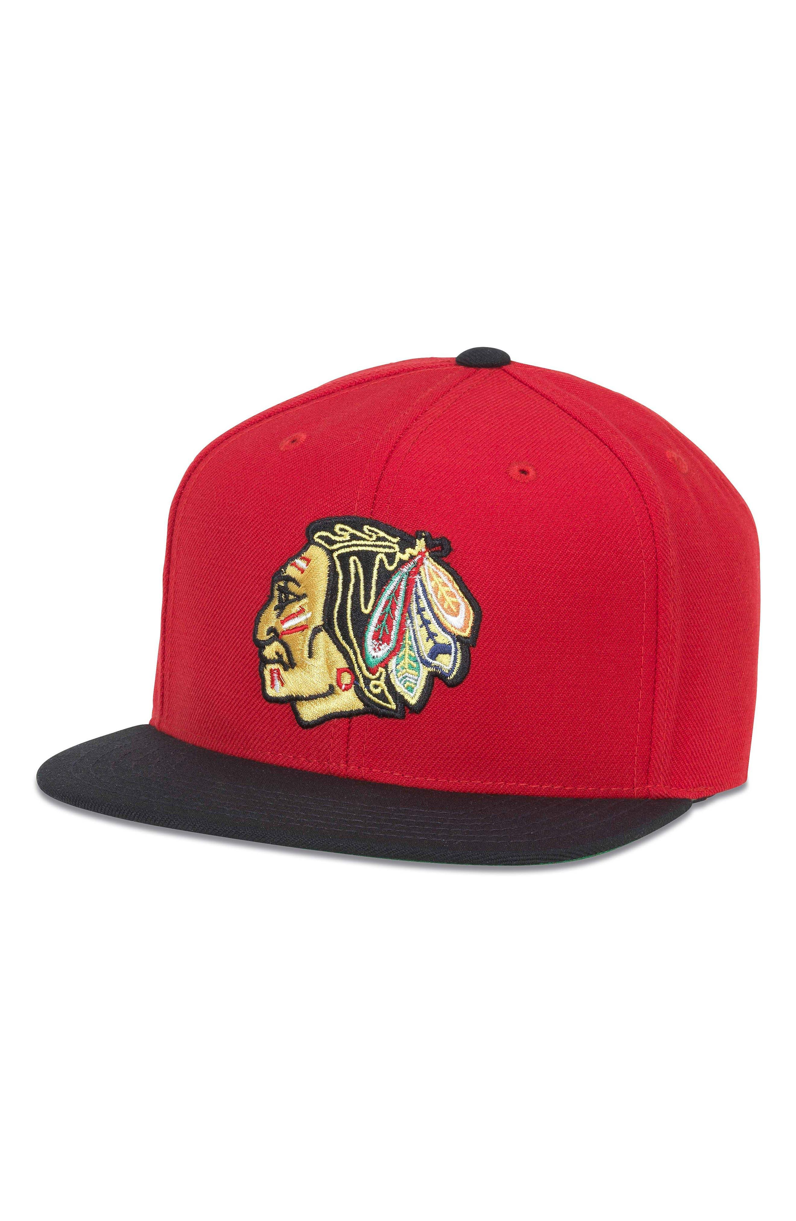 400 Series NHL Hat,                         Main,                         color, Red/ Black