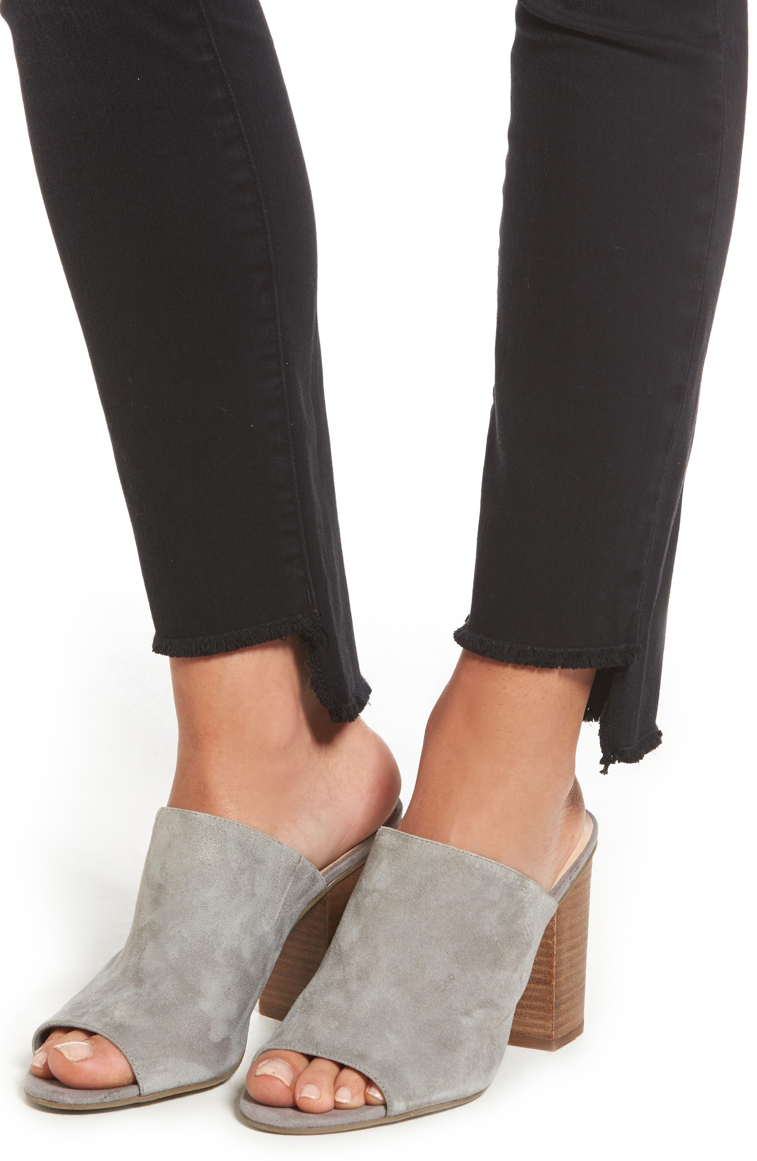 Alternate Image 4  - SLINK Jeans Step Hem Skinny Jeans (Mimi)