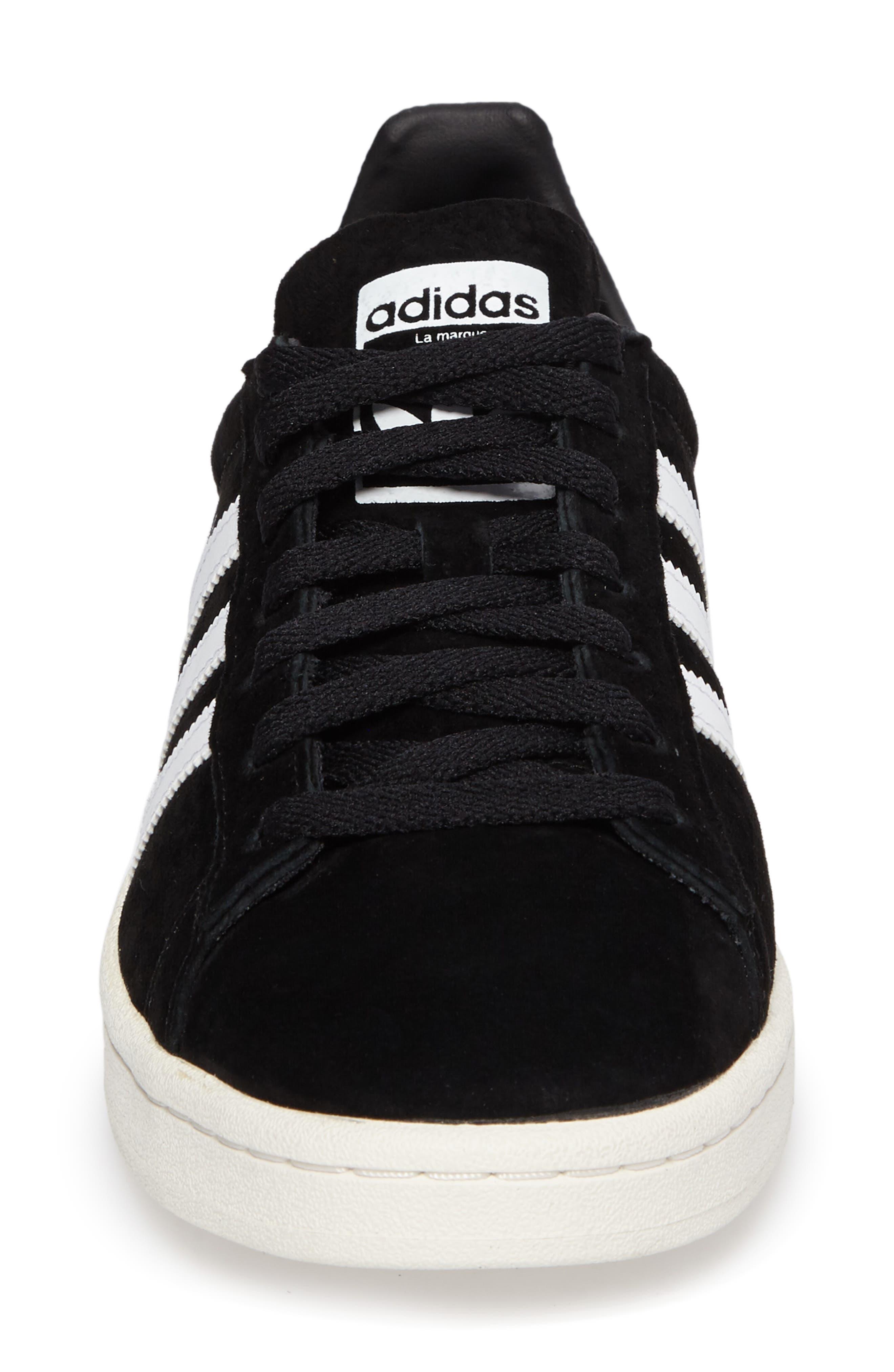'Campus' Sneaker,                             Alternate thumbnail 4, color,                             Core Black/ White