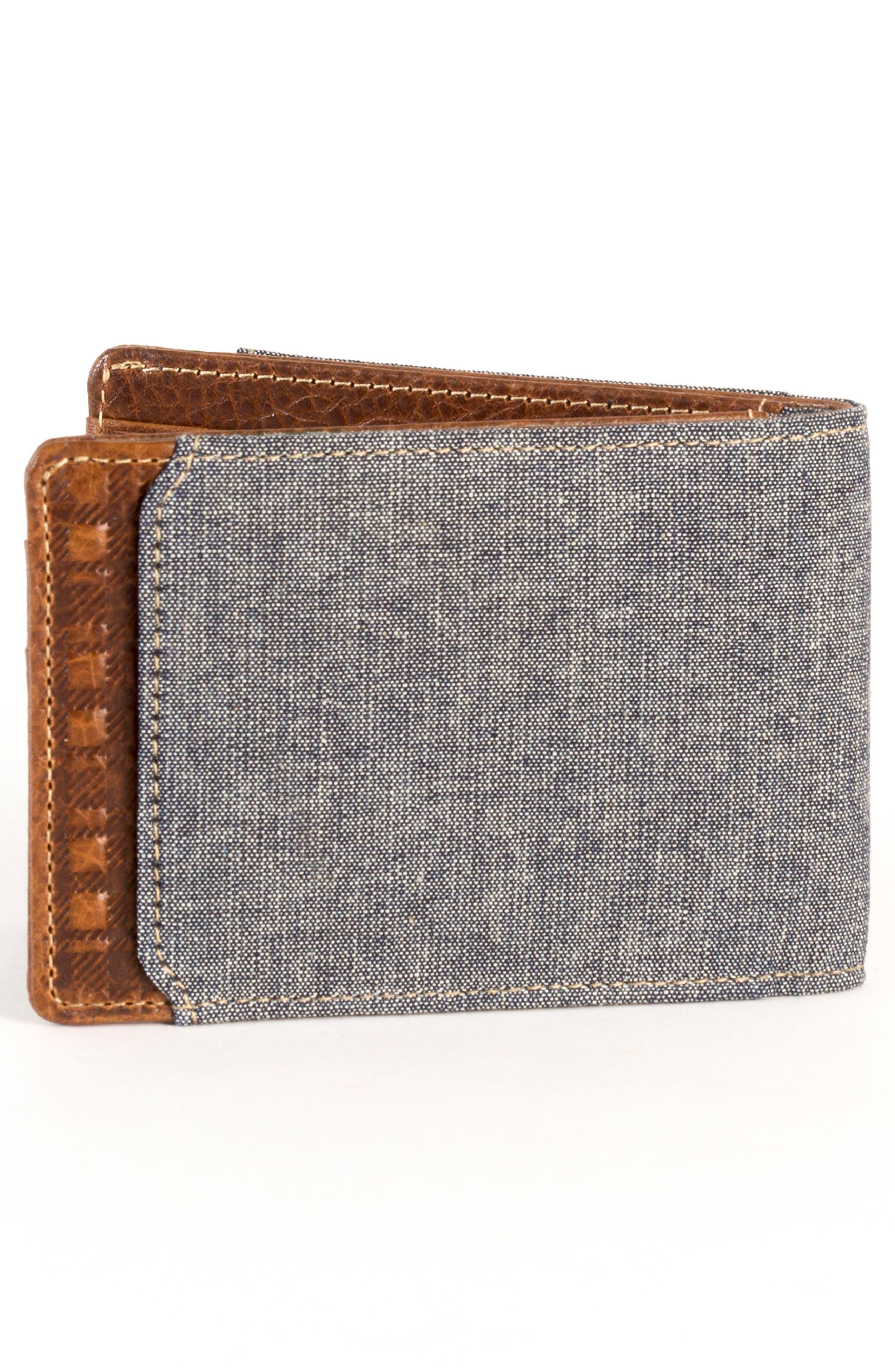 Caleb LTE Wallet,                             Alternate thumbnail 3, color,                             Chestnut