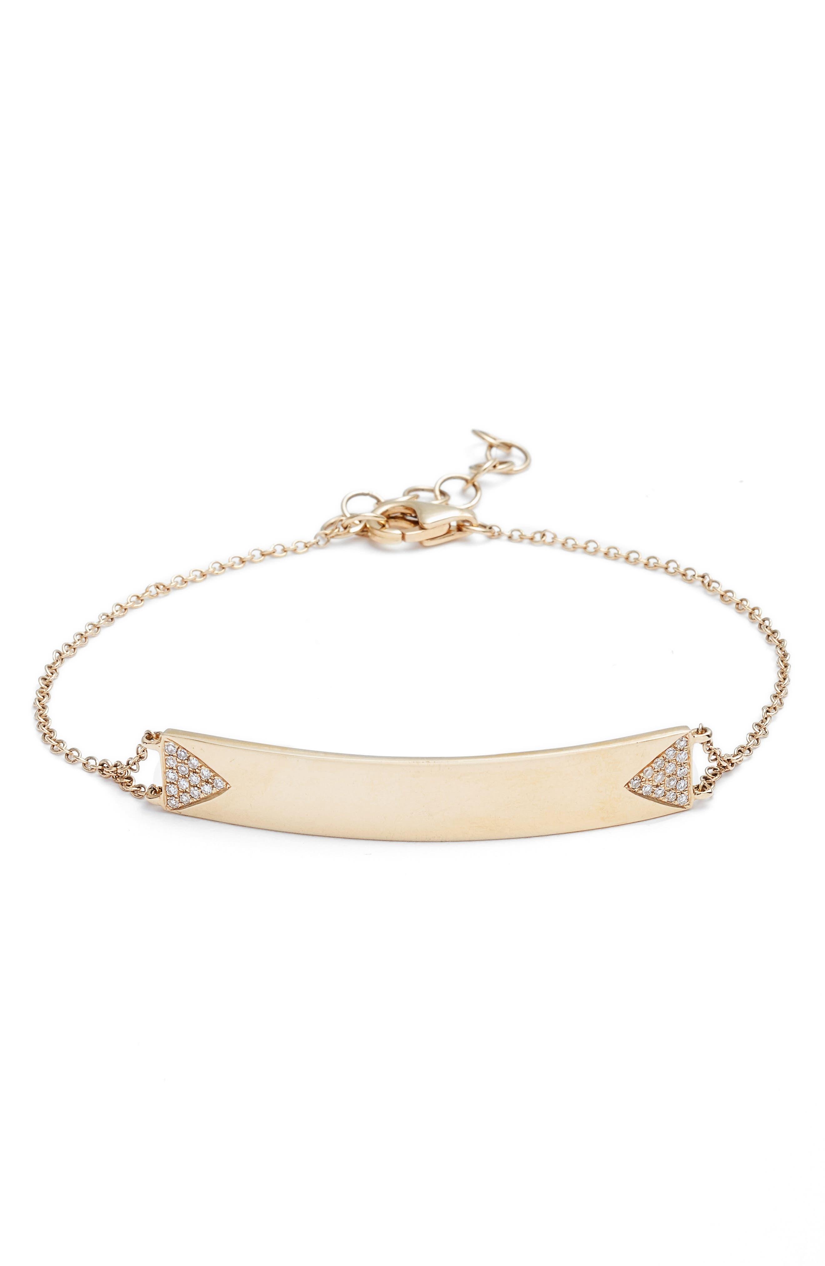 EF COLLECTION Diamond ID Bracelet