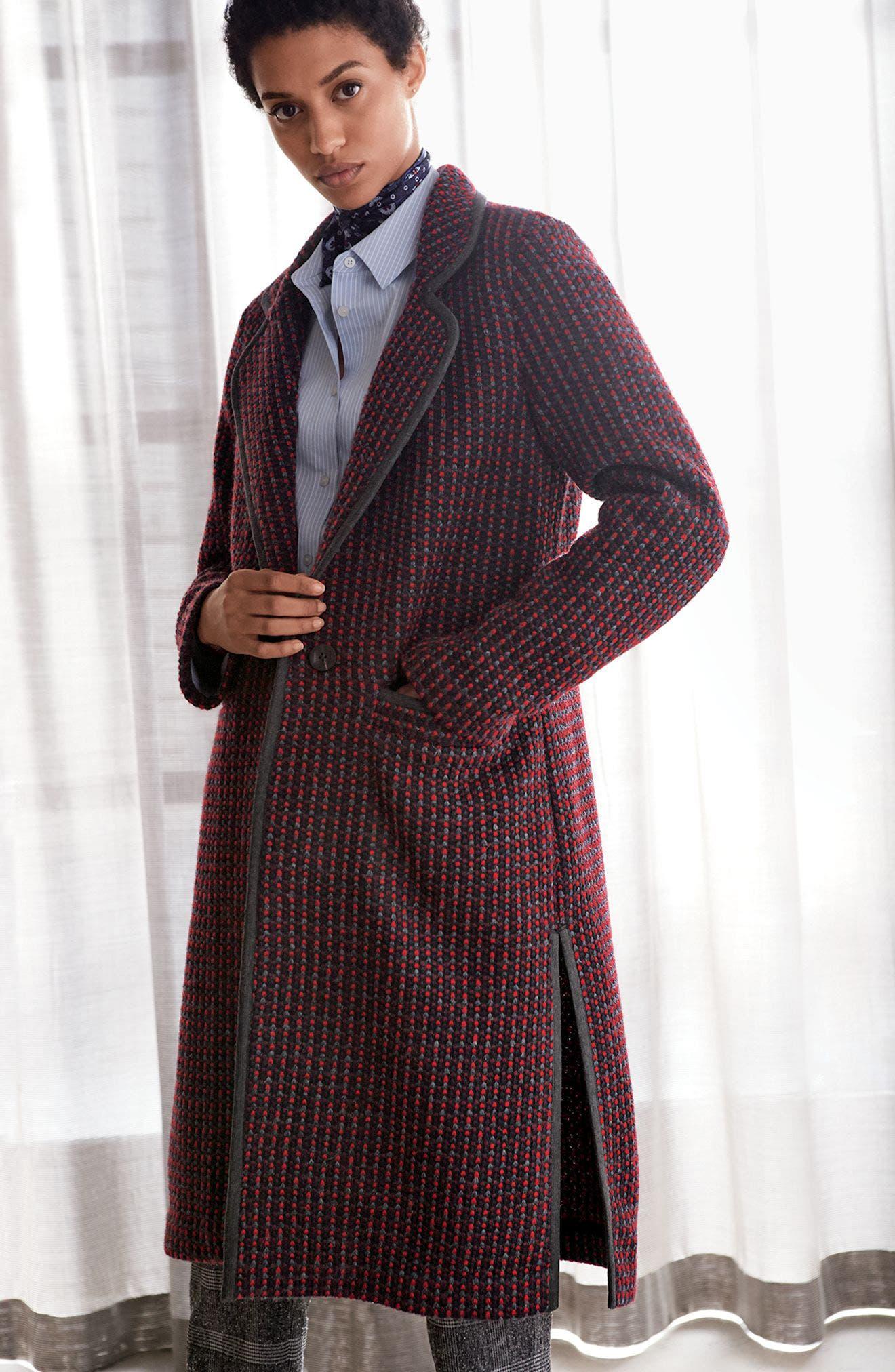 Alternate Image 2  - Diane Von Furstenberg Tweed Coat