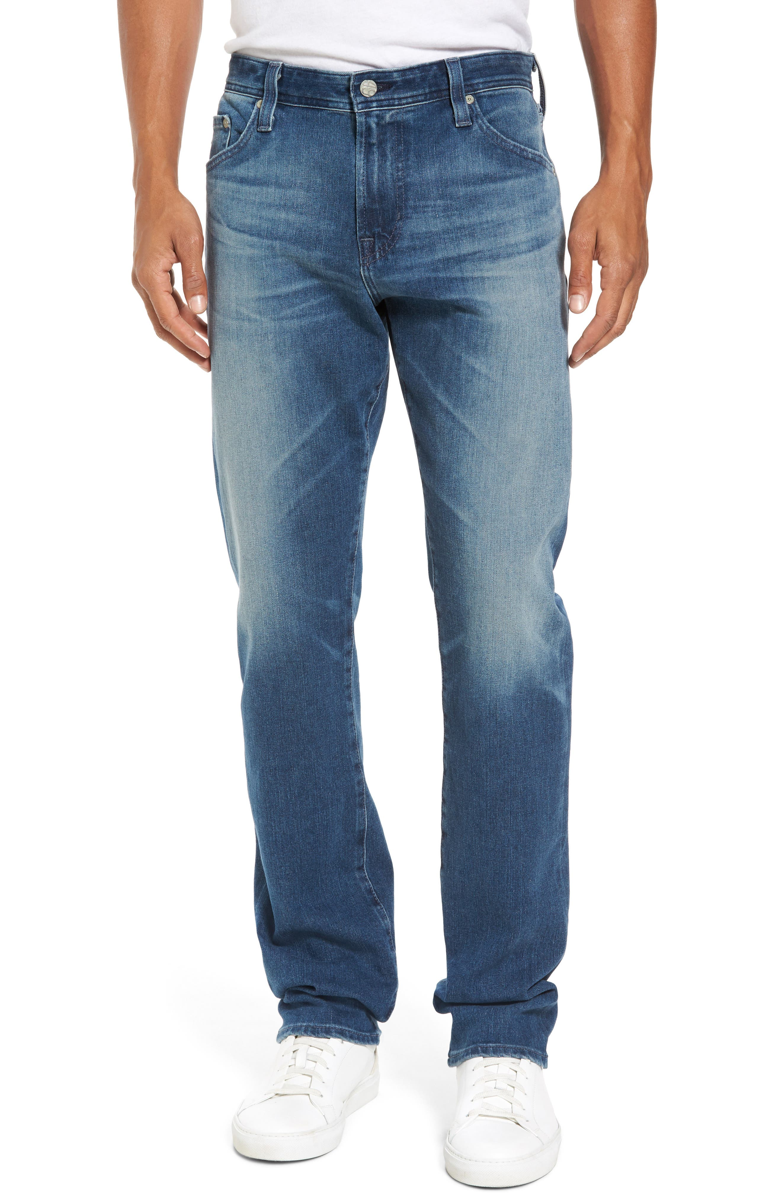 AG Everett Slim Straight Fit Jeans (13 Years Snap)