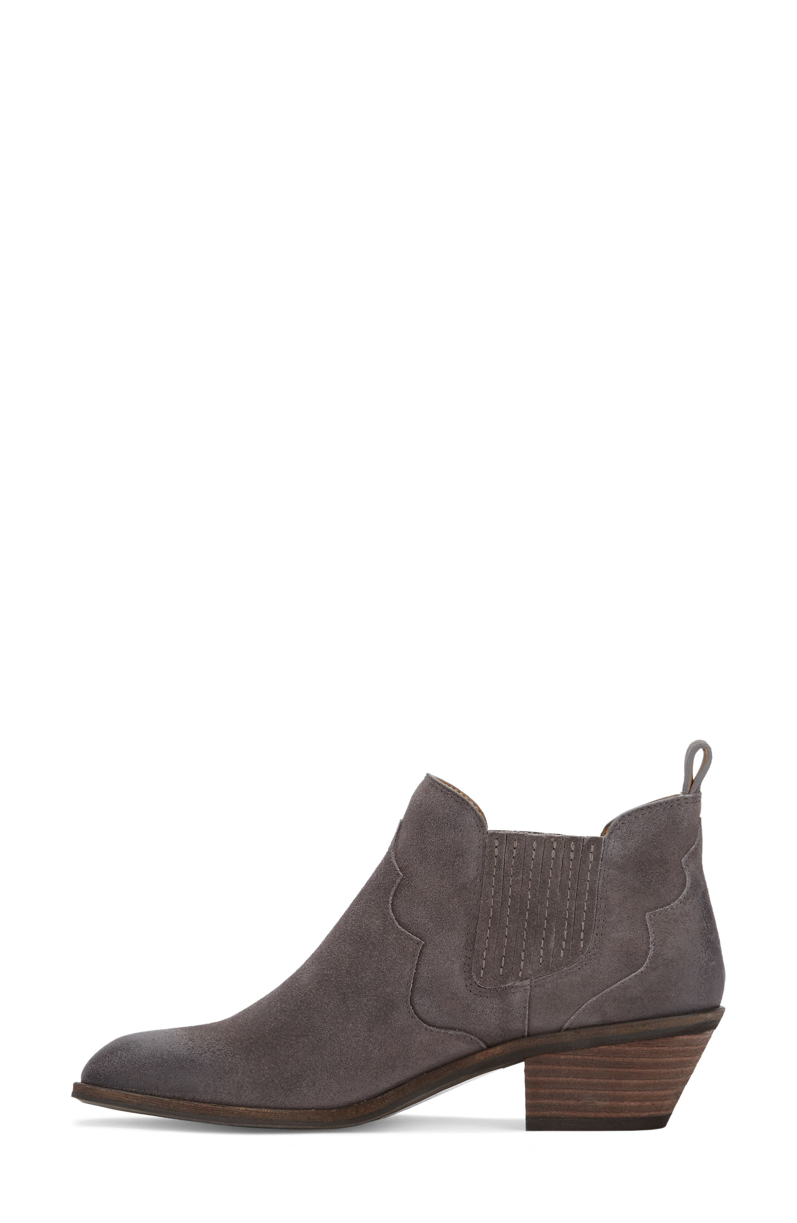Naomi Bootie,                             Alternate thumbnail 2, color,                             Charcoal Suede