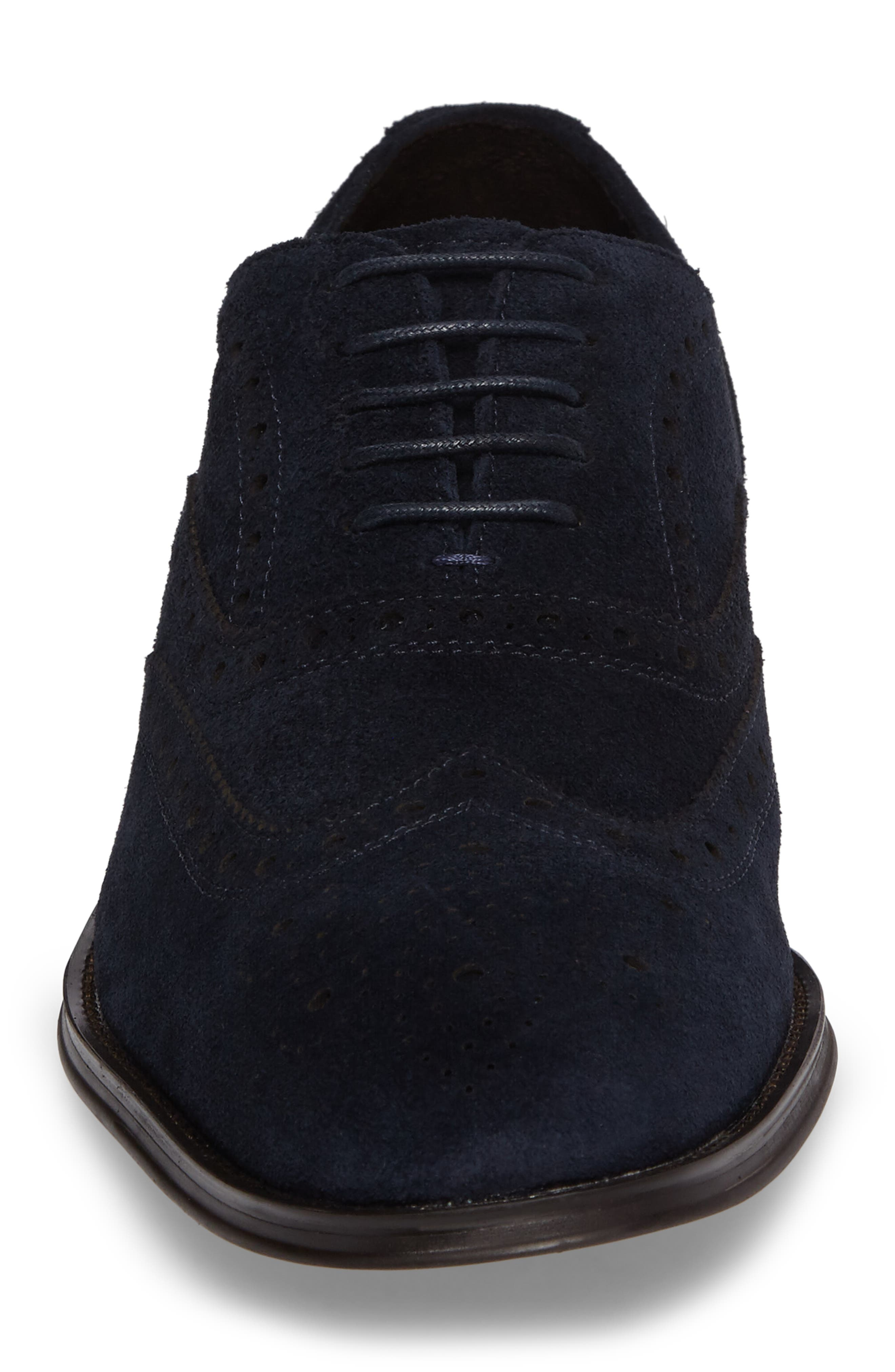 Wingtip,                             Alternate thumbnail 4, color,                             Midnight Navy Leather