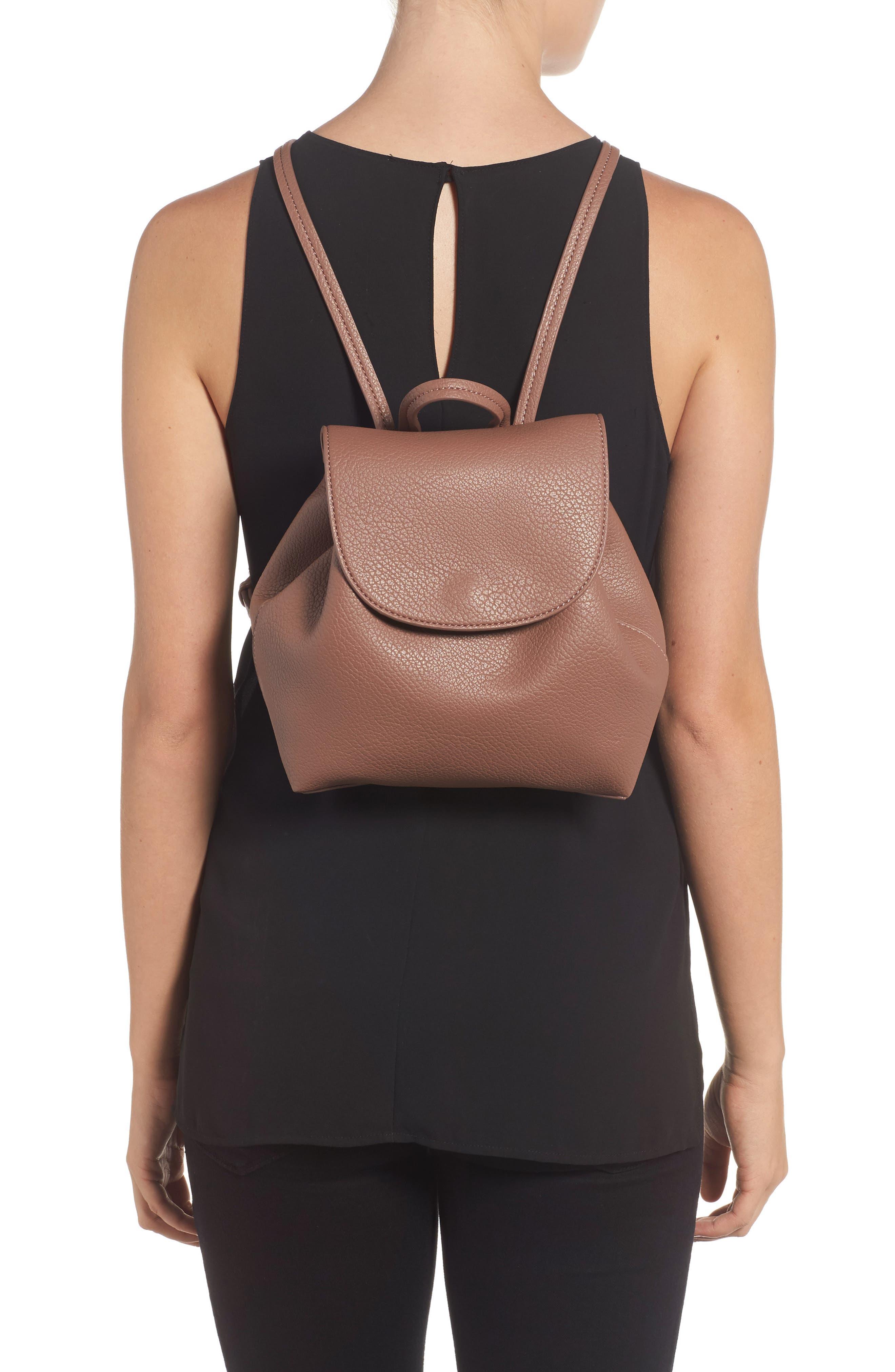 Jaylee Faux Leather Mini Backpack,                             Alternate thumbnail 2, color,                             Mauve