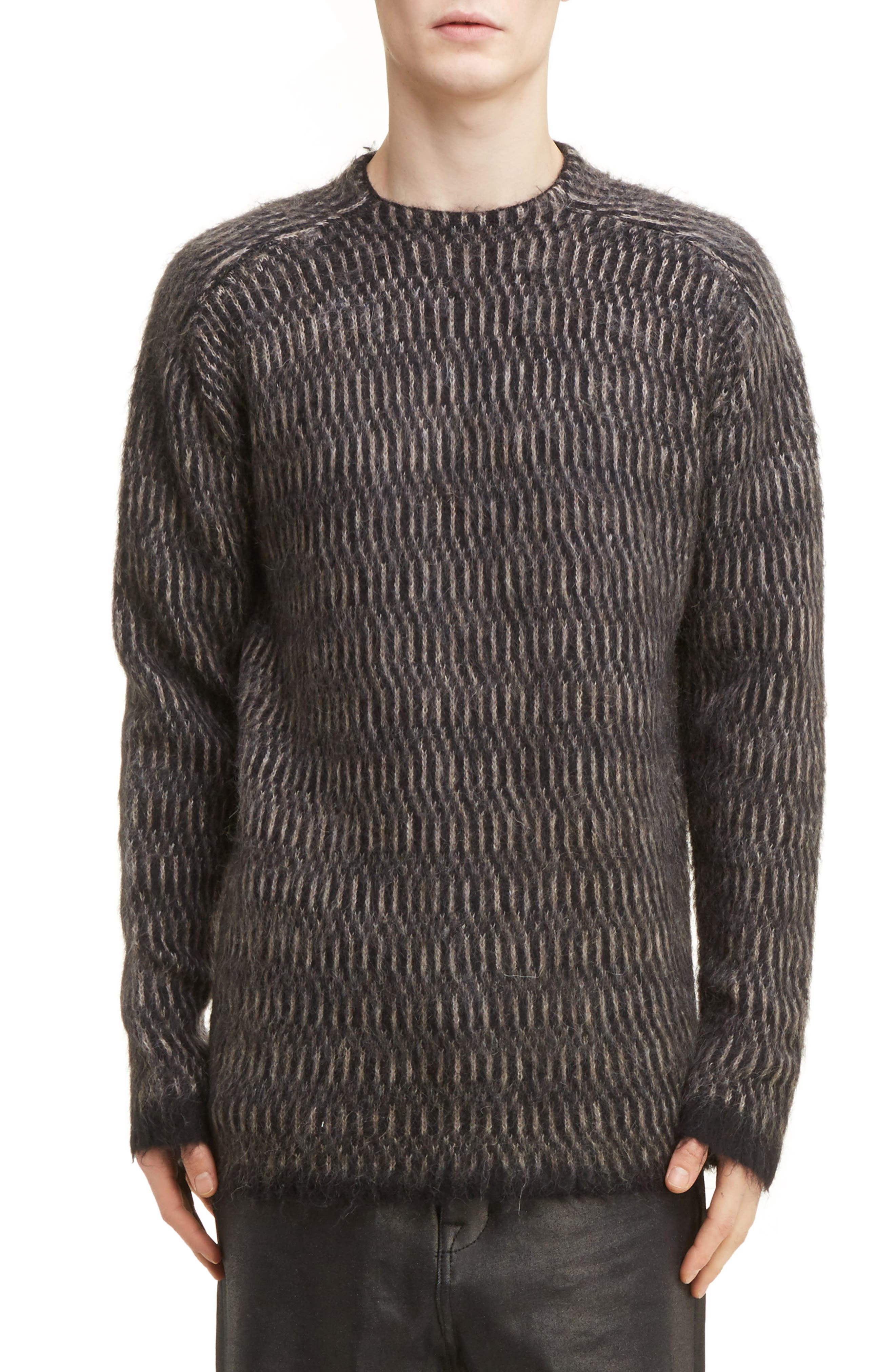 Rick Owens Brushed Mohair Blend Sweater