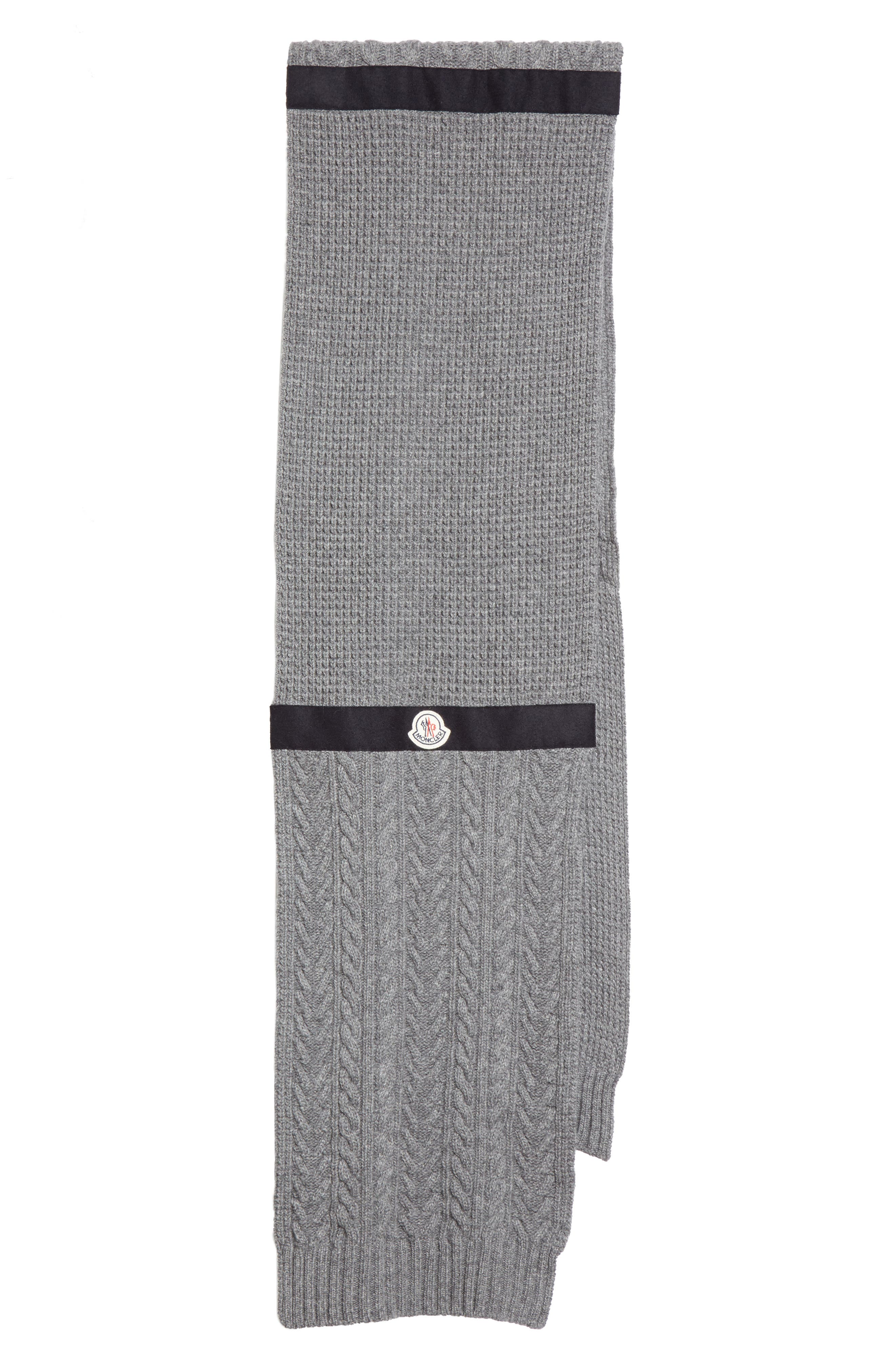 Moncler Textured Wool & Cashmere Scarf