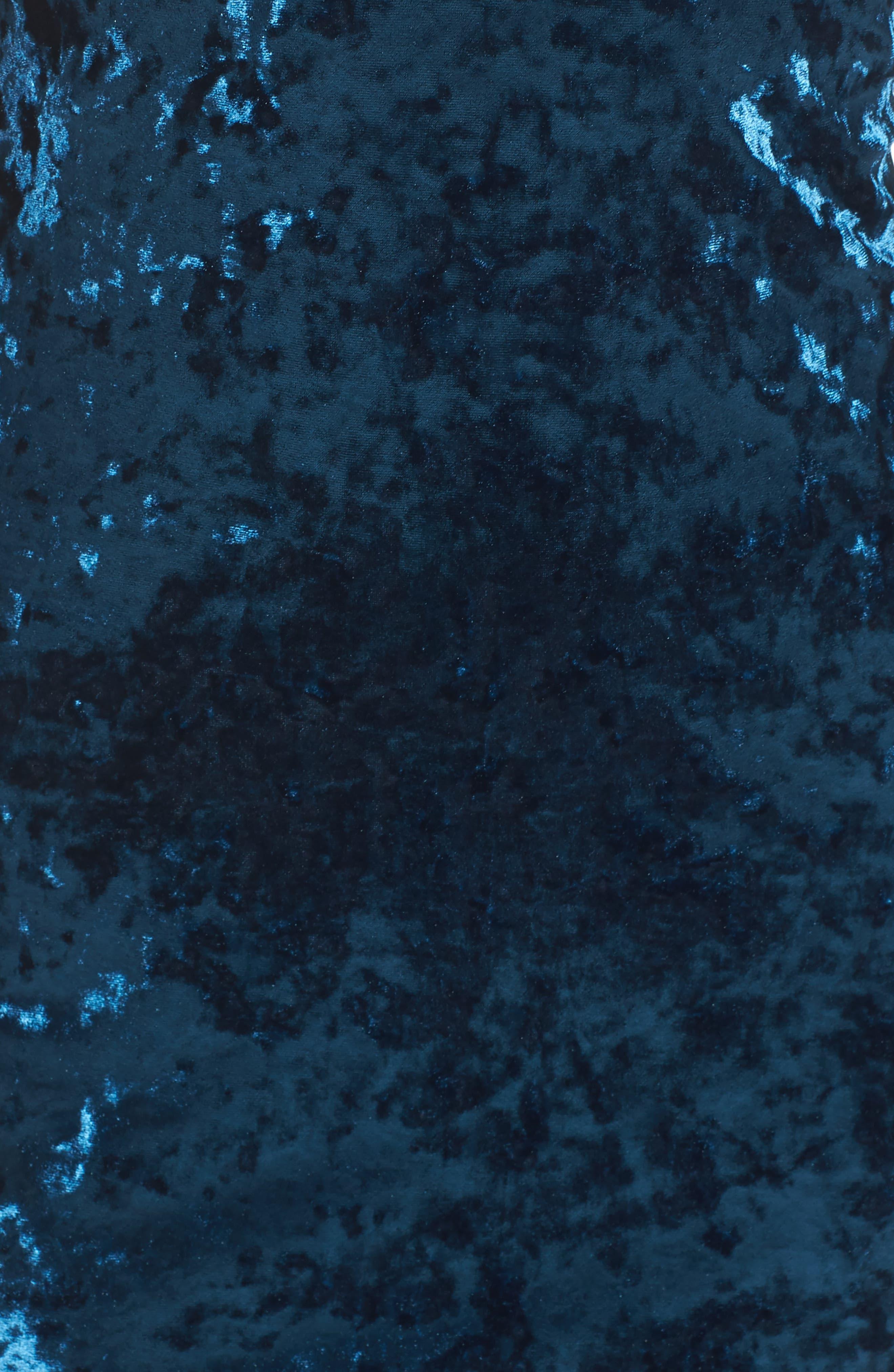 Alternate Image 5  - Maggy London Crushed Velvet Off the Shoulder Dress