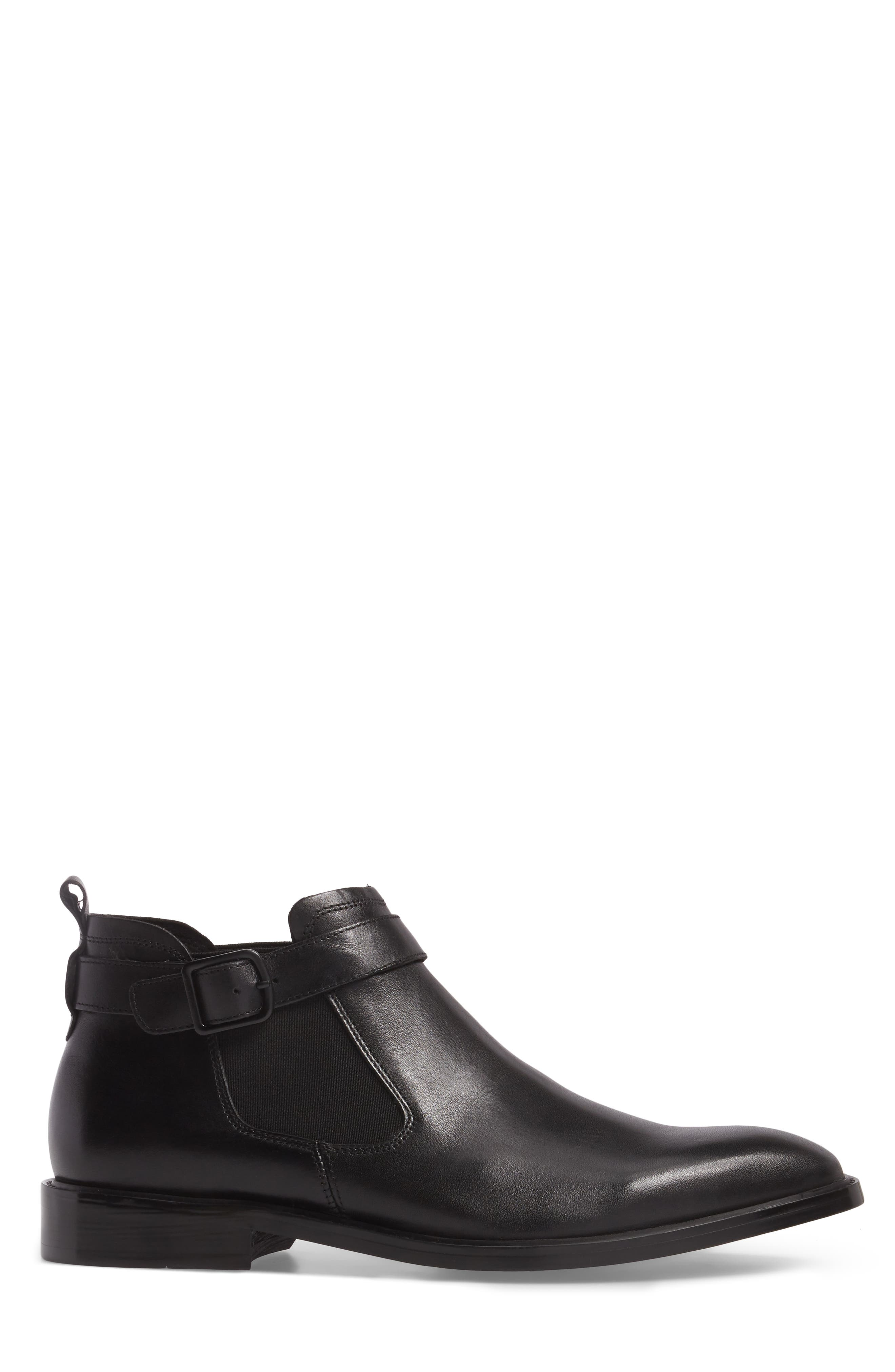 'Sum-Times' Chelsea Boot,                             Alternate thumbnail 3, color,                             Black Leather