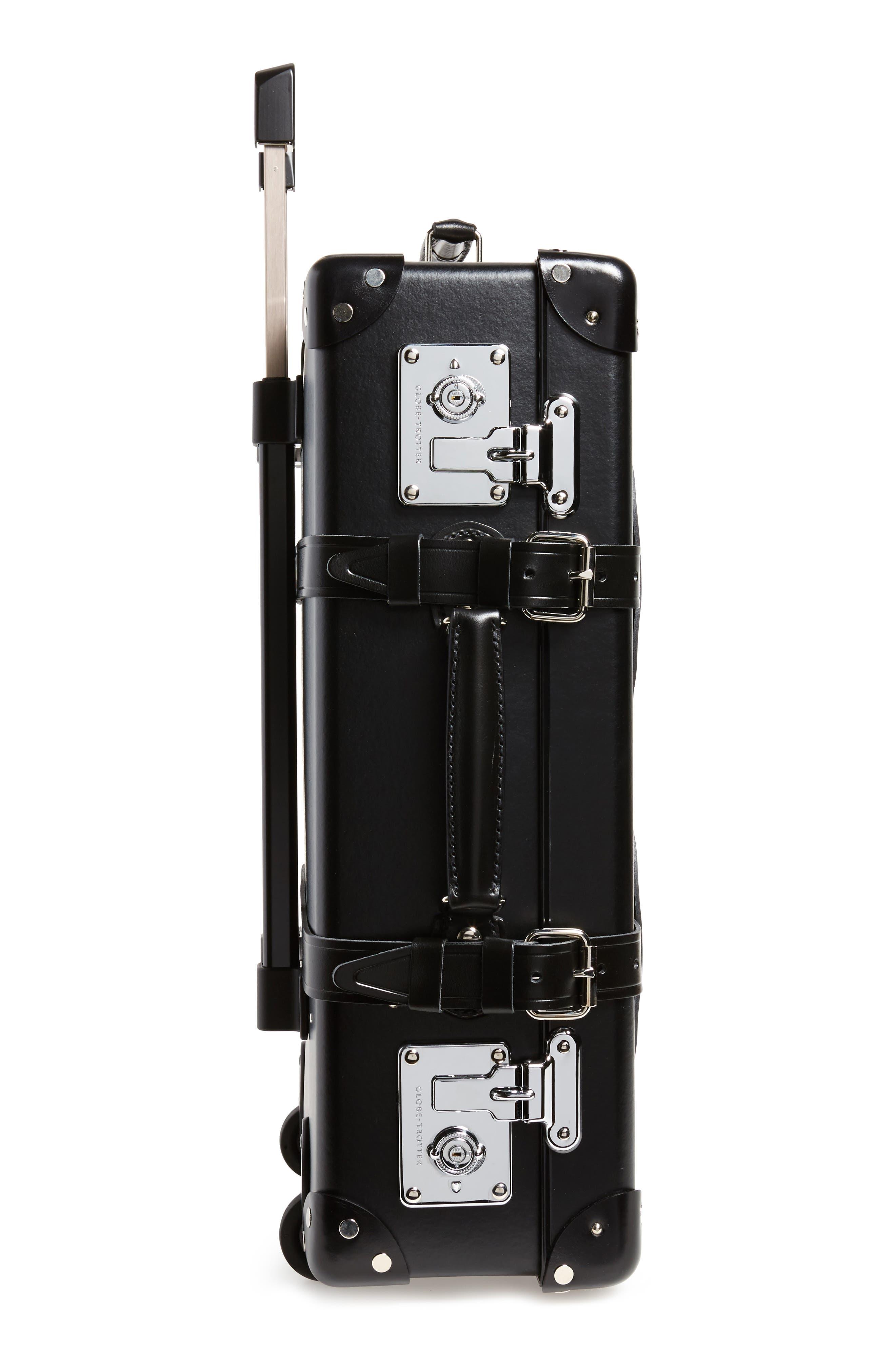 Centenary 21-Inch Hardshell Travel Trolley Case,                             Alternate thumbnail 4, color,                             Black/ Black