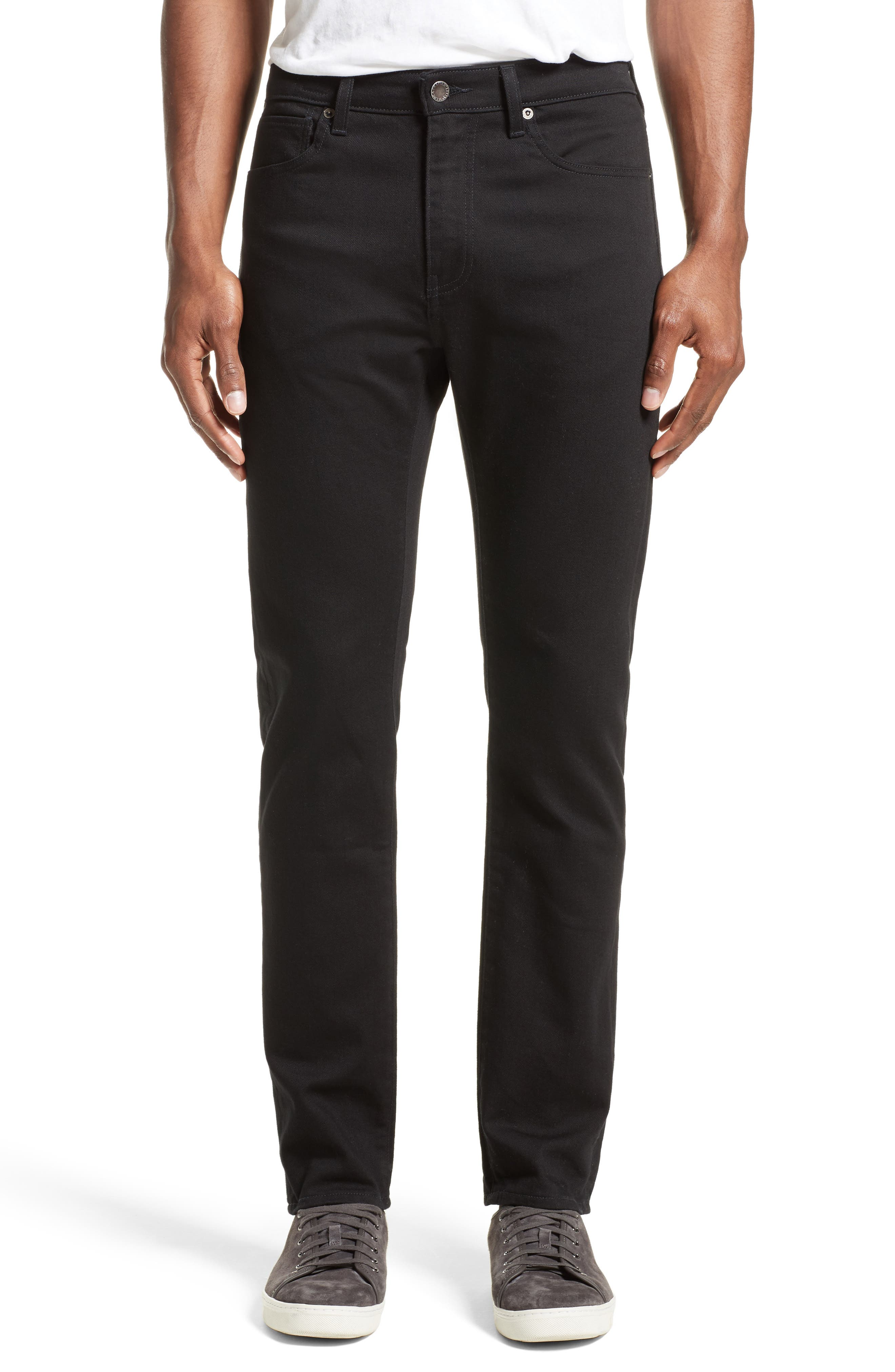 'Tack' Slim Fit Jeans,                         Main,                         color, Black Rinse