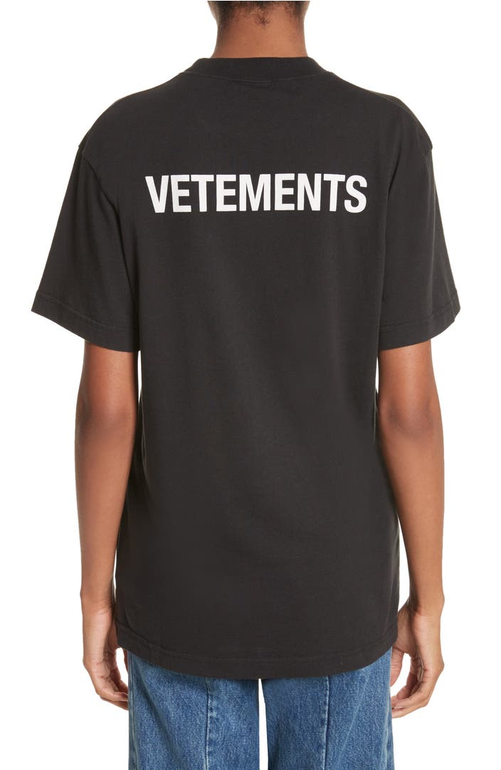 Vetements staff basic logo tee nordstrom for Vetements basic staff t shirt