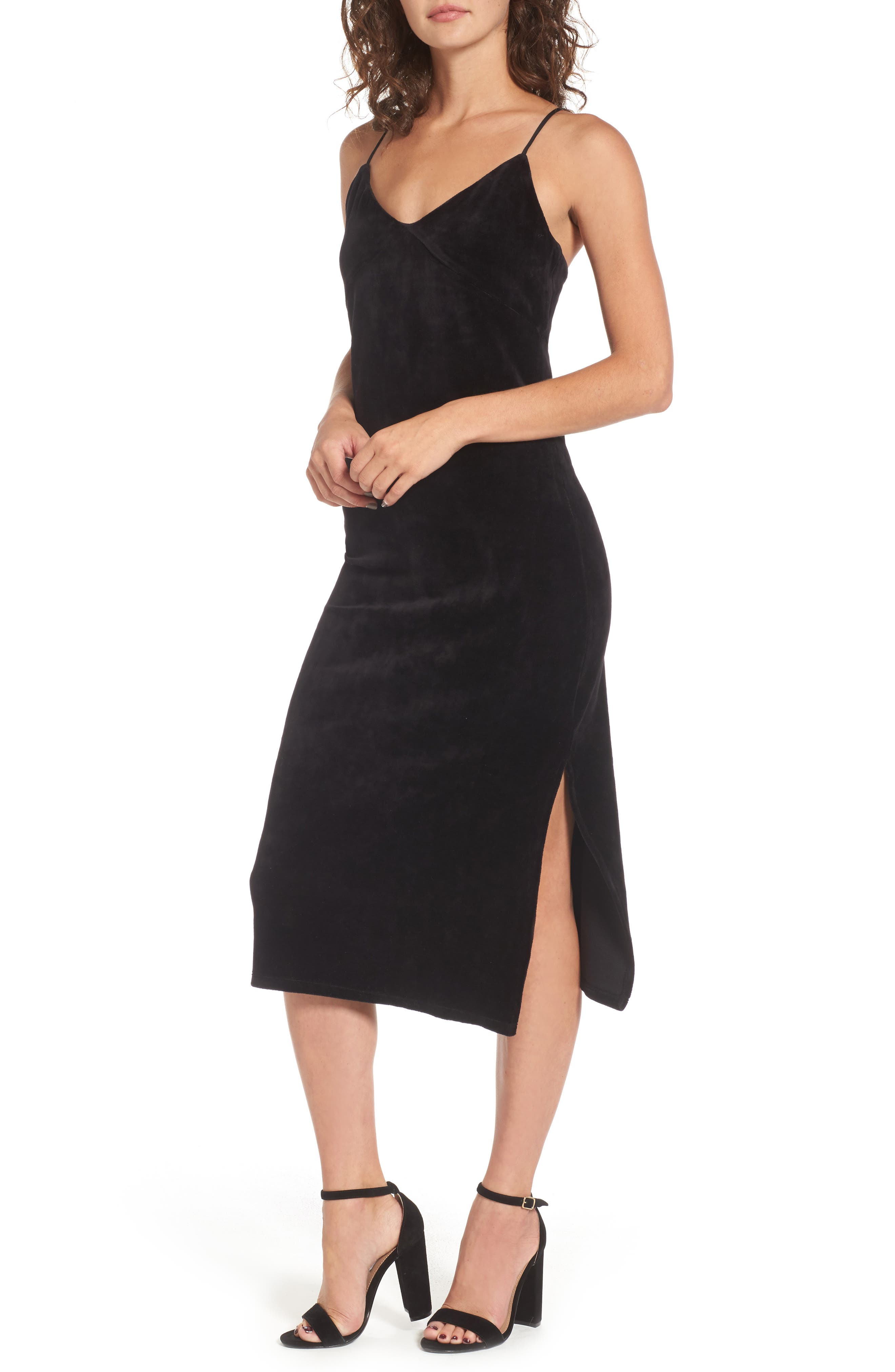 Main Image - Juicy Couture Stretch Velour Slipdress