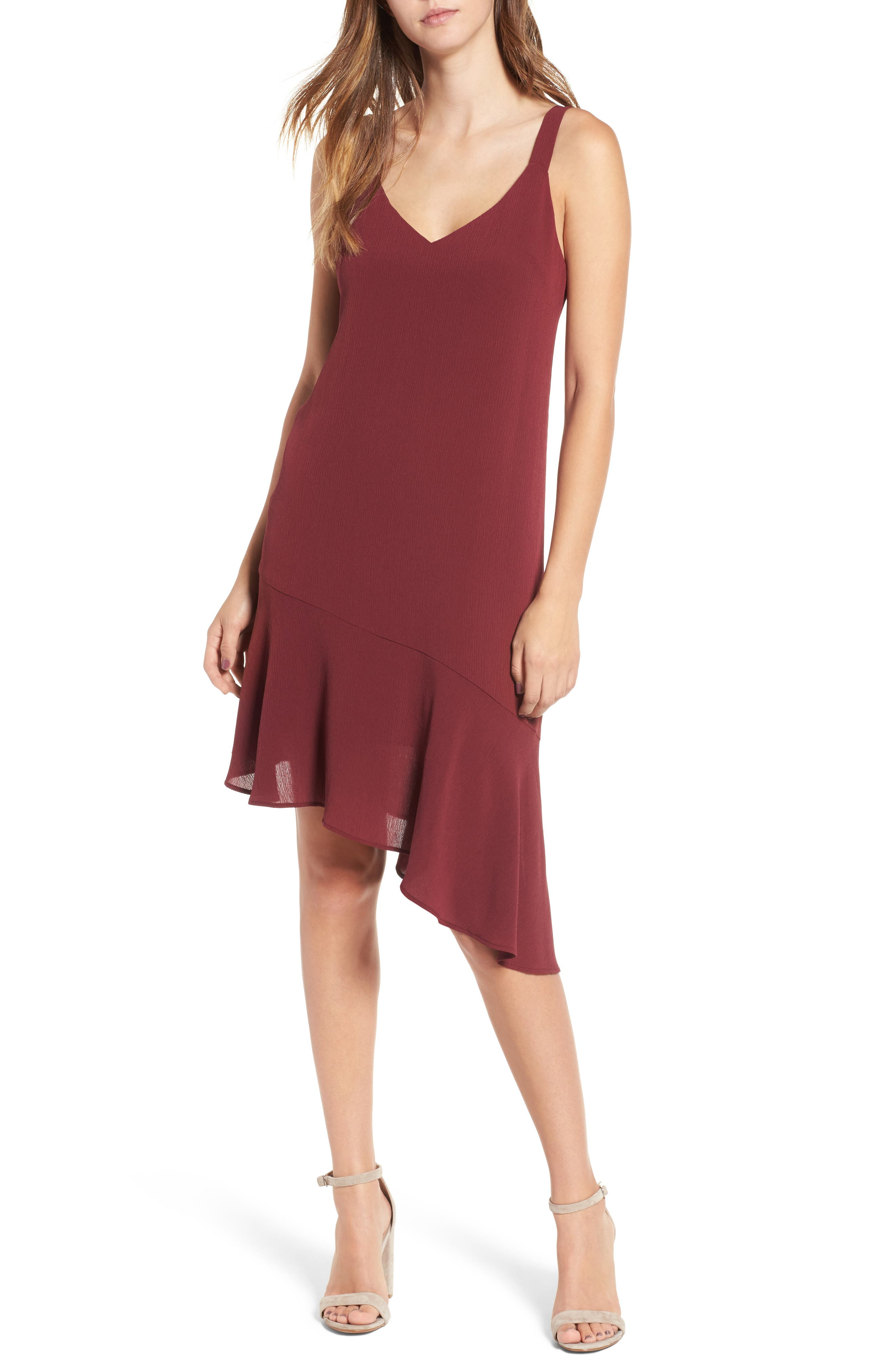 Main Image - Asymmetrical Ruffle Hem Dress