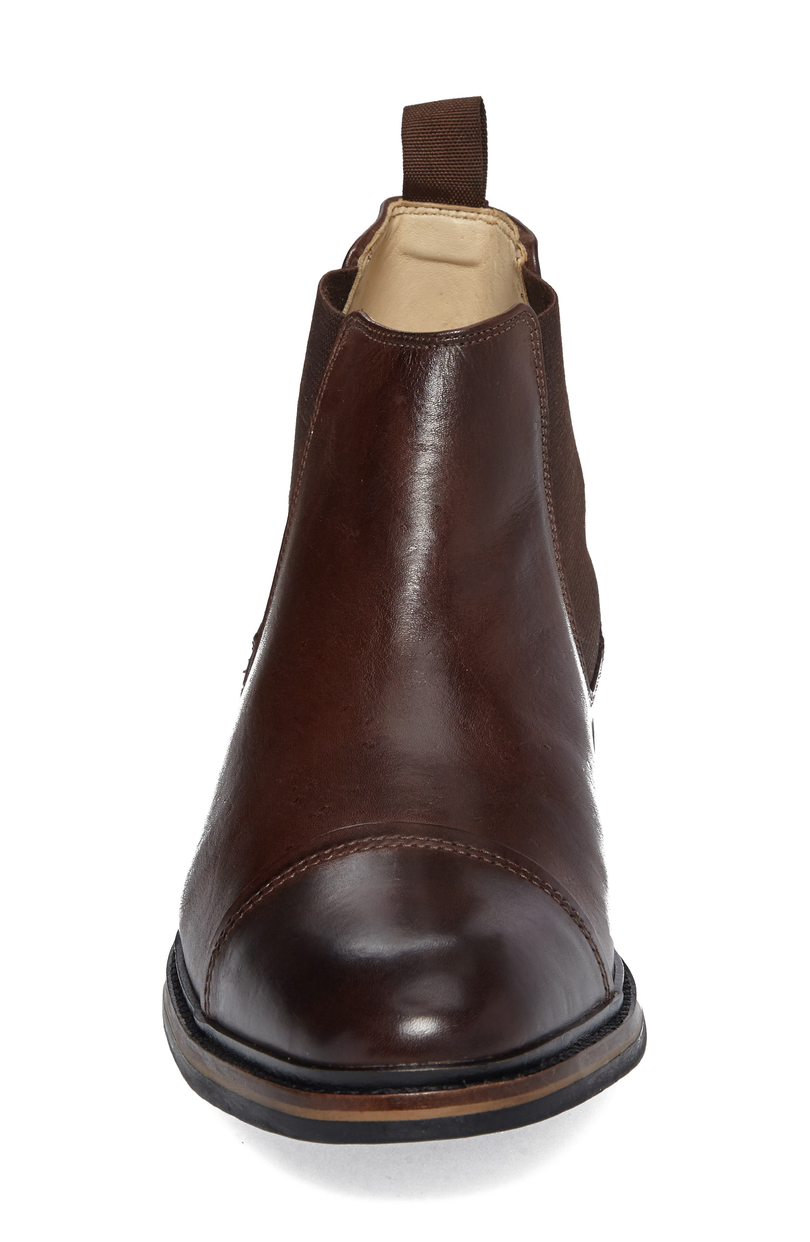 Floriano Chelsea Boot,                             Alternate thumbnail 4, color,                             Touch Castanho
