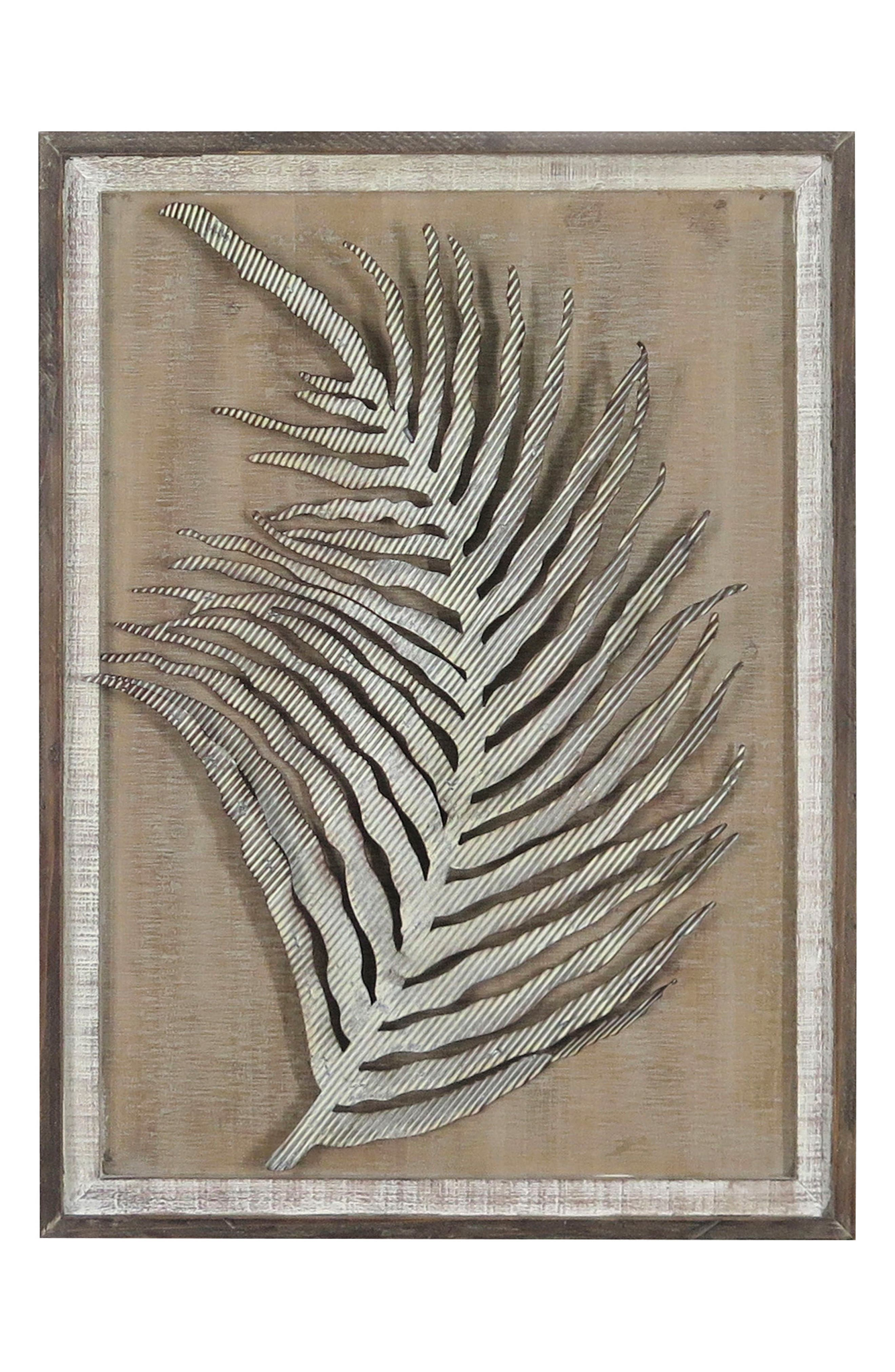 Leaf Wall Art,                         Main,                         color, Metal